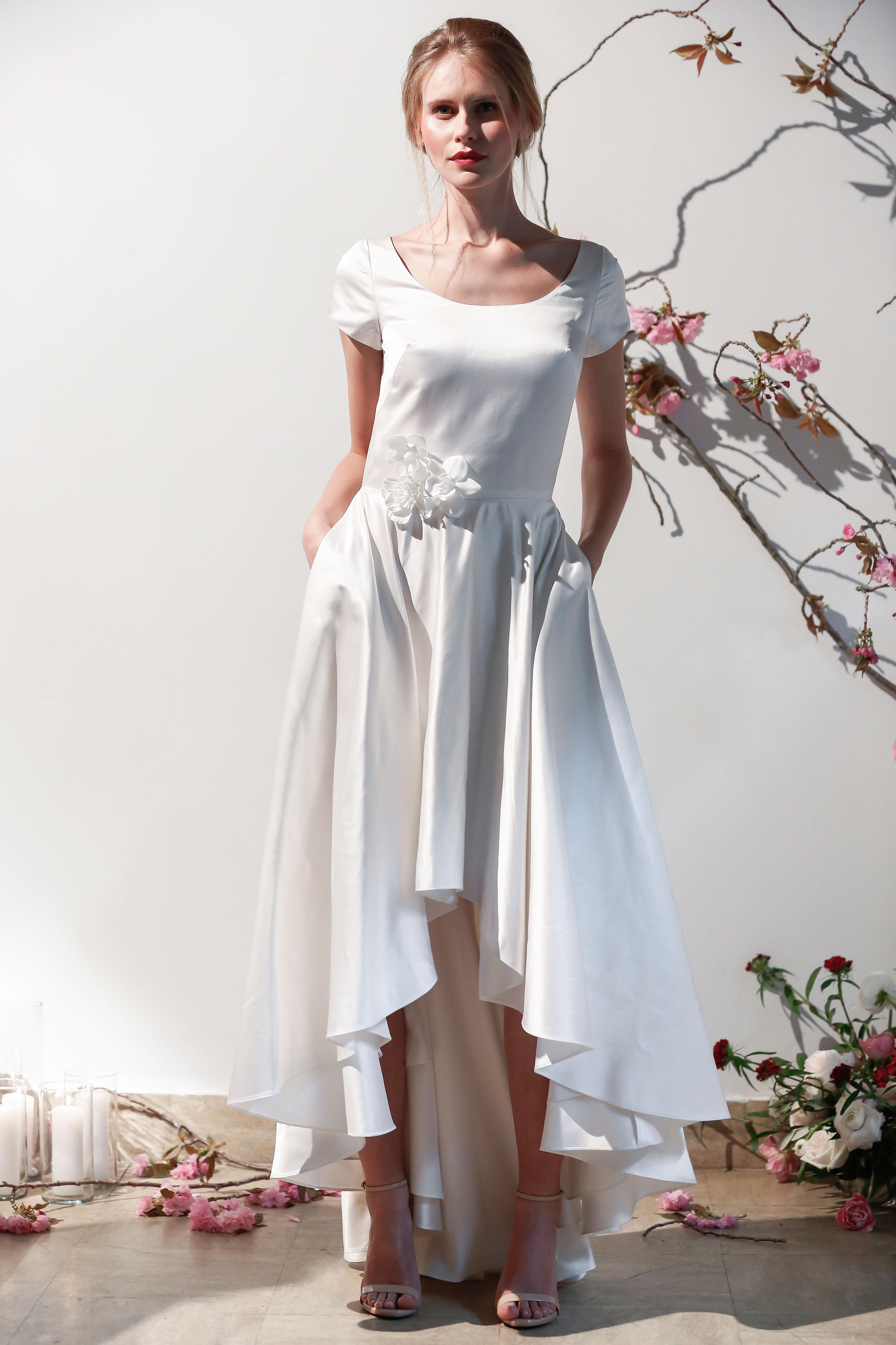 Mason Hosker cap sleeve wedding dress spring 2018