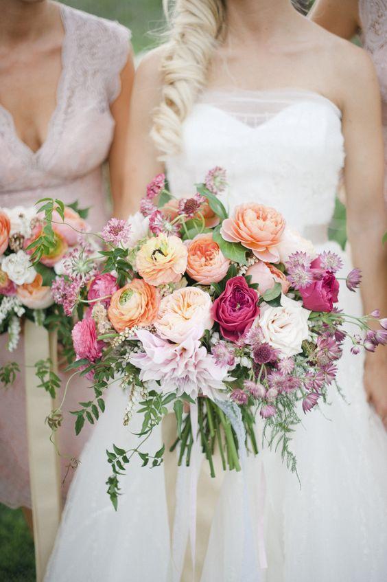warm dahlia wedding bouquet