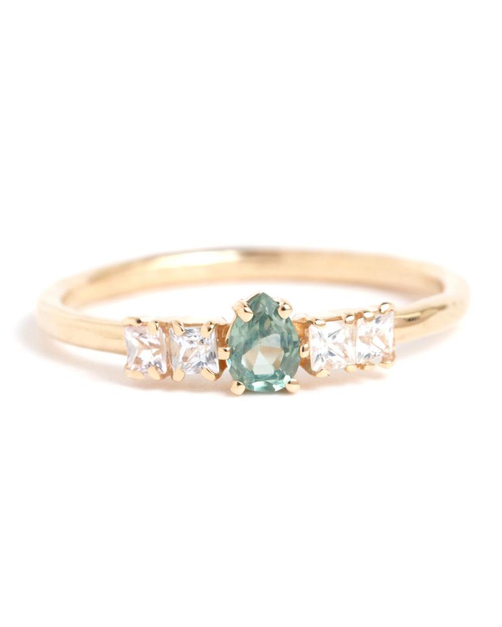 Sapphire Princess Ring