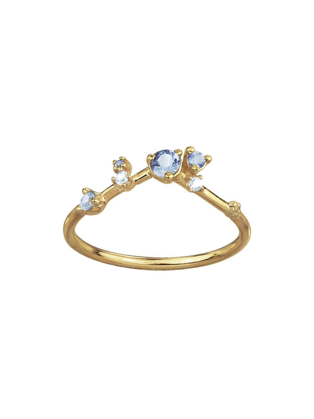 Sapphire Diamond Organic Ring