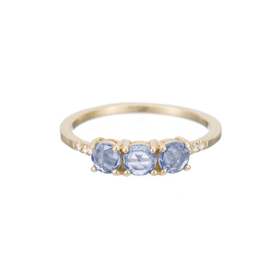 Rose Cut Sapphire Equilibrium Ring