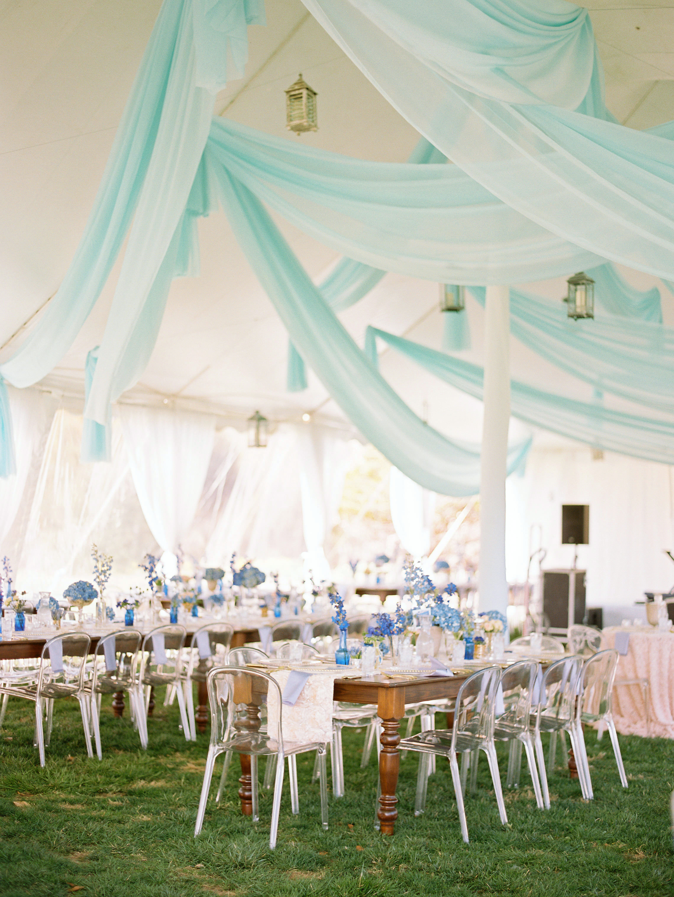 spring wedding elegant reception tent