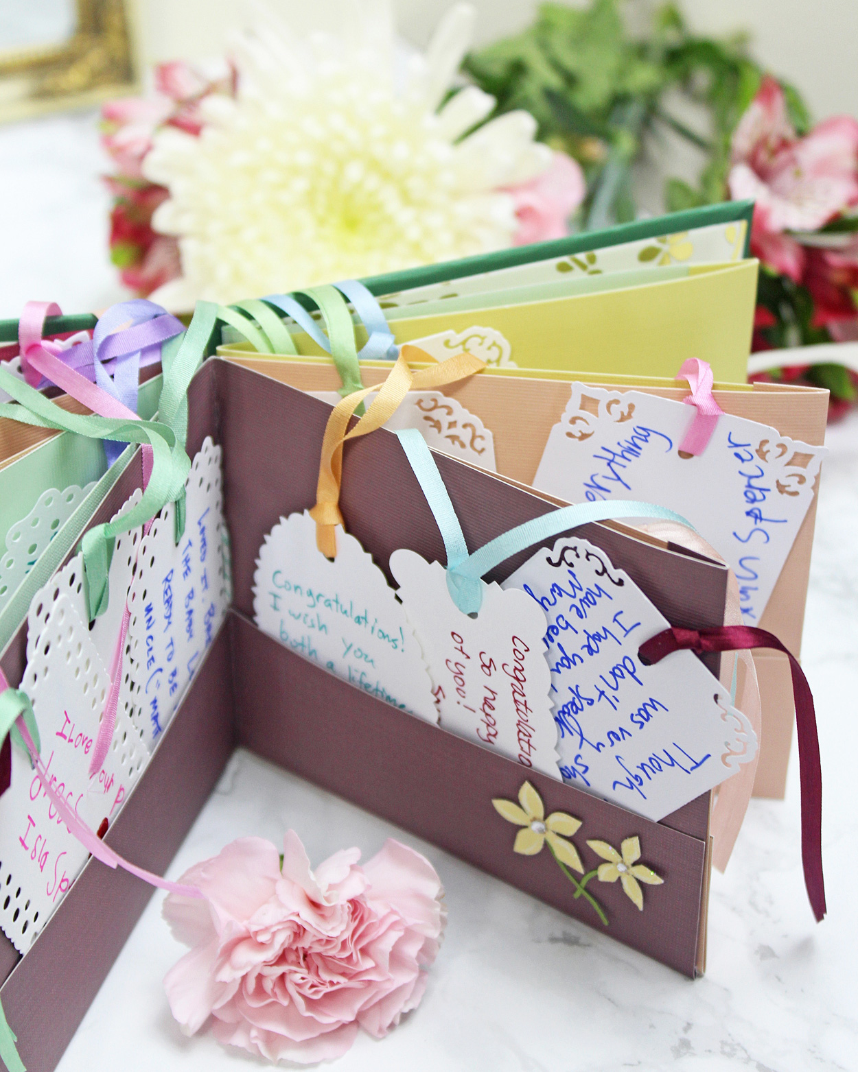 Make Your Own Botanical Themed Wedding Guest Book Martha