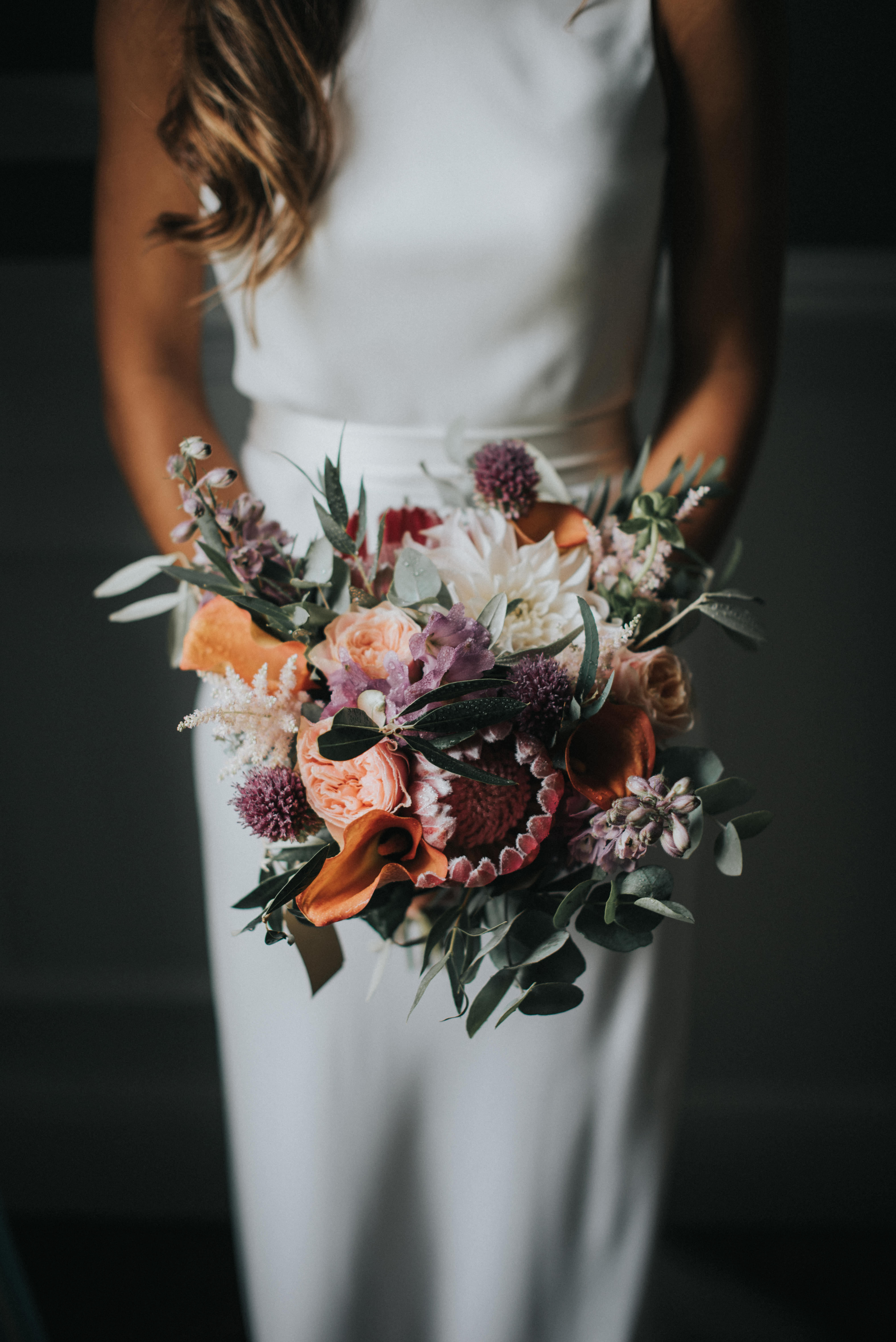 protea wedding bouquets mcgivern photography