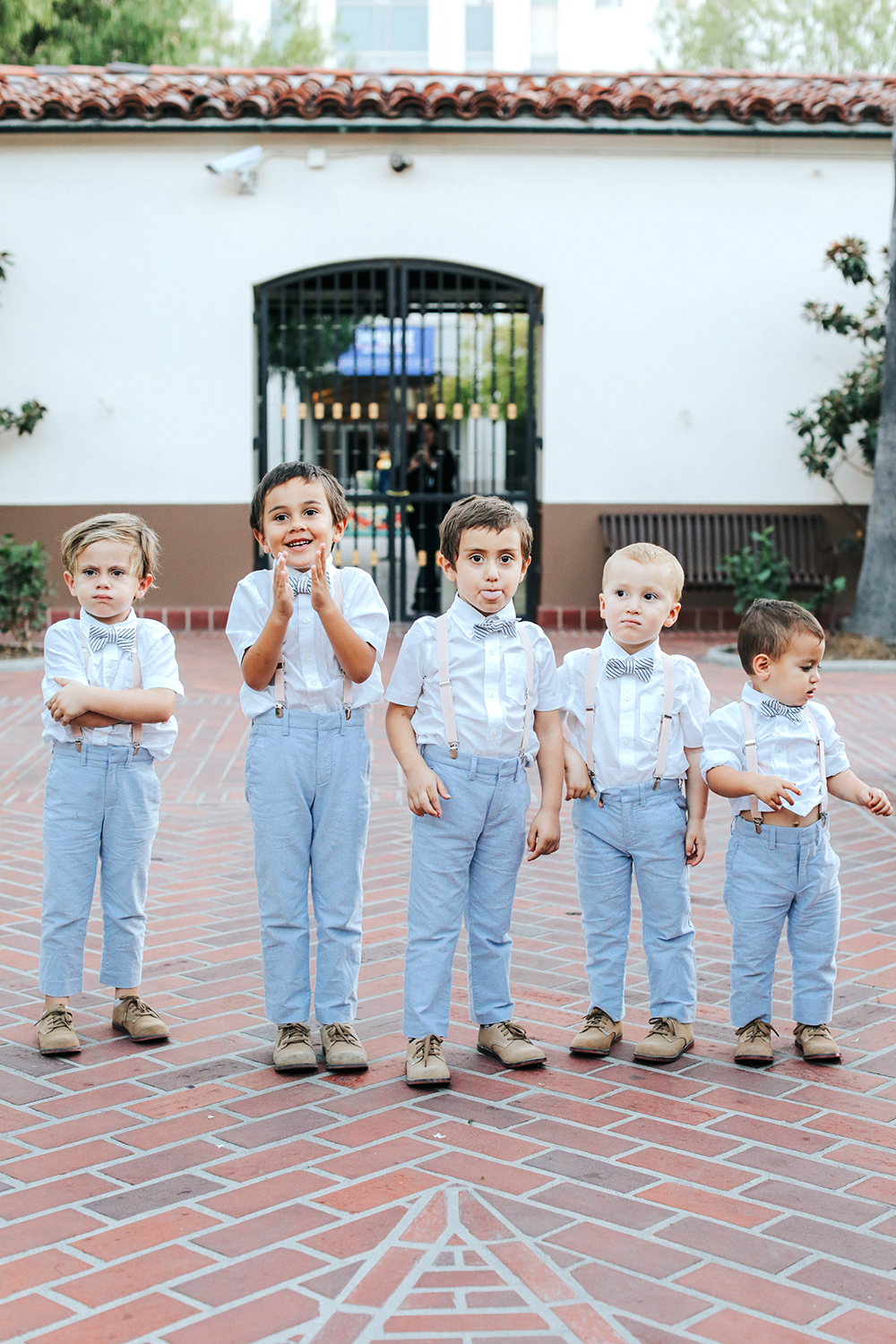 ring bearers suspenders bowtie fun