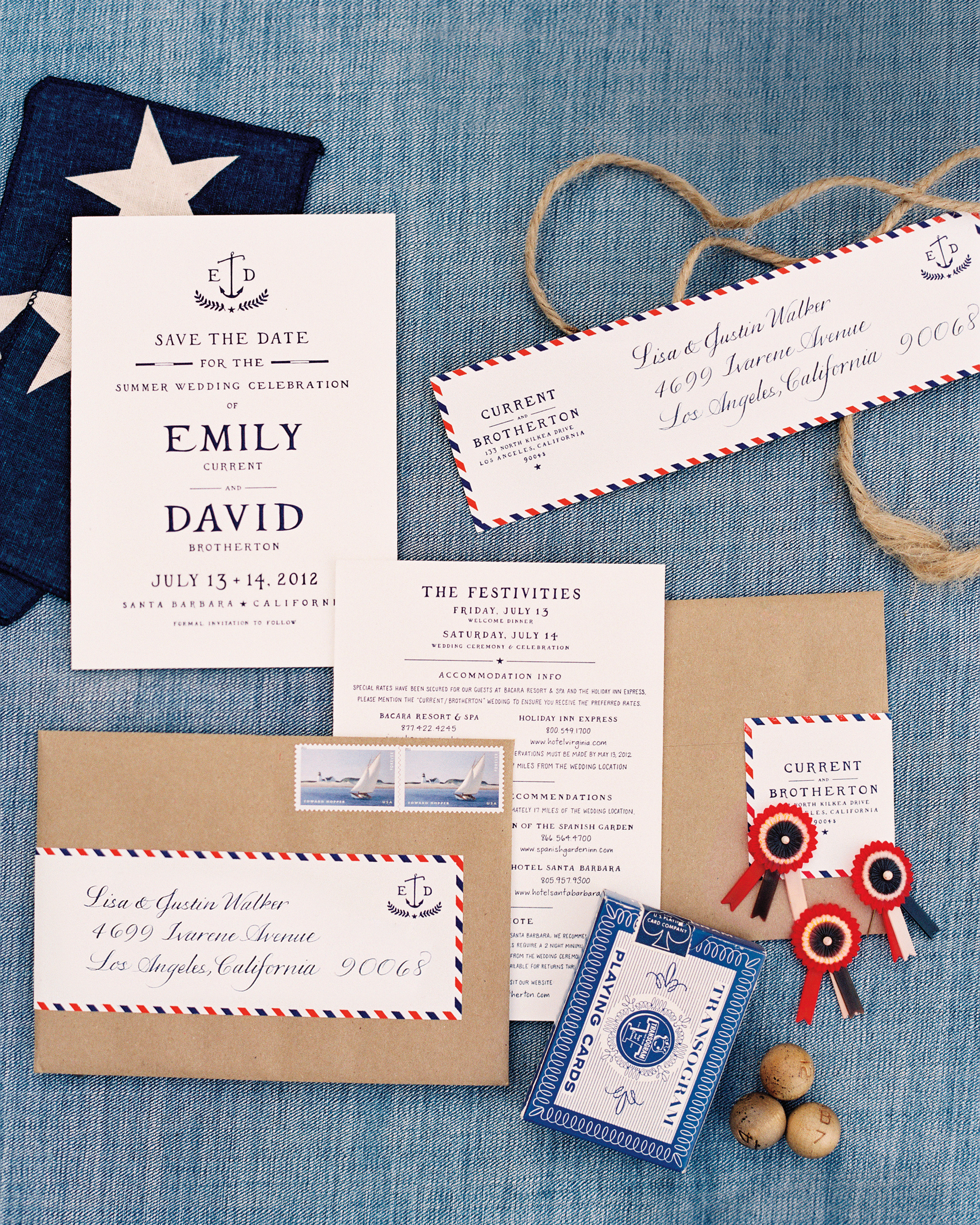Nautical Americana Stationery