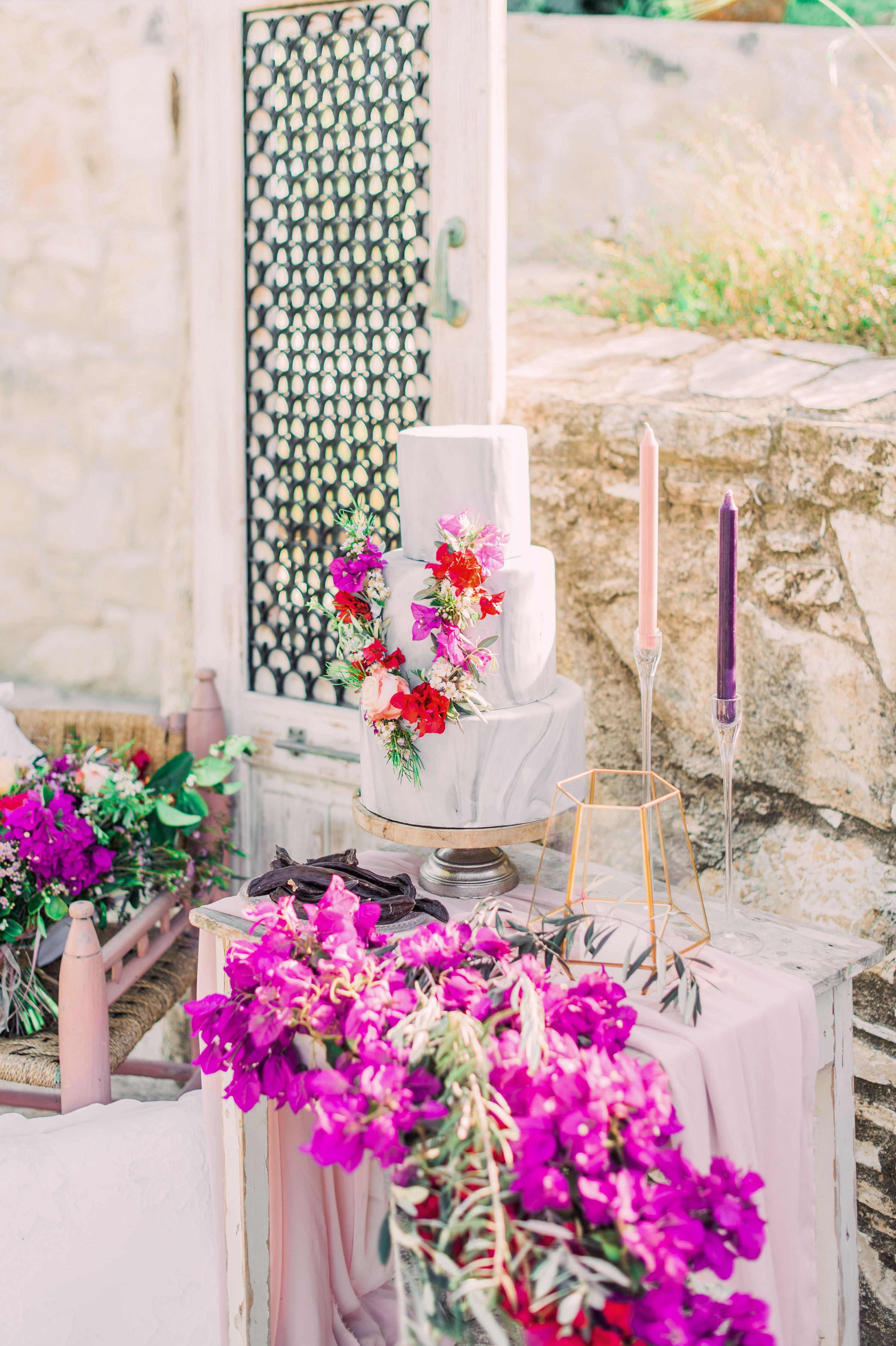 summer wedding cakes festively floral