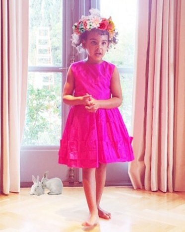Blue Ivy Easter Flower Crown