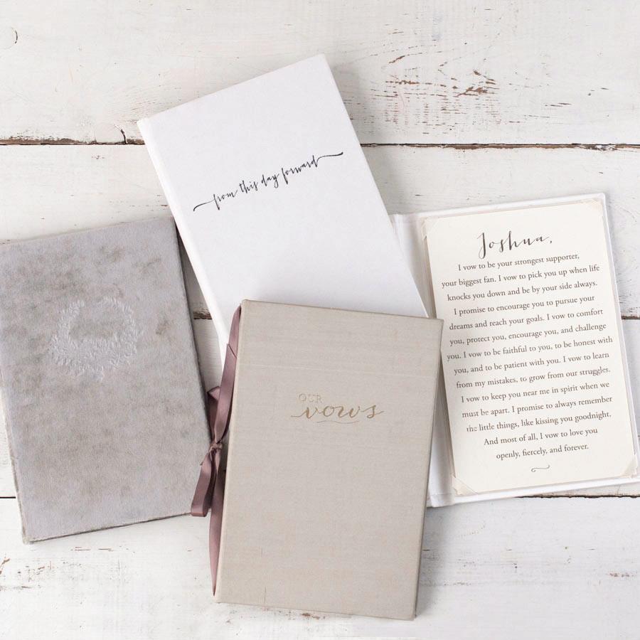 vow books traditional holder portfolio linen colors