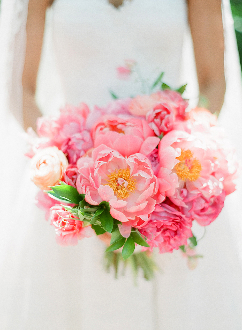 monochromatic bouquet pink flowers