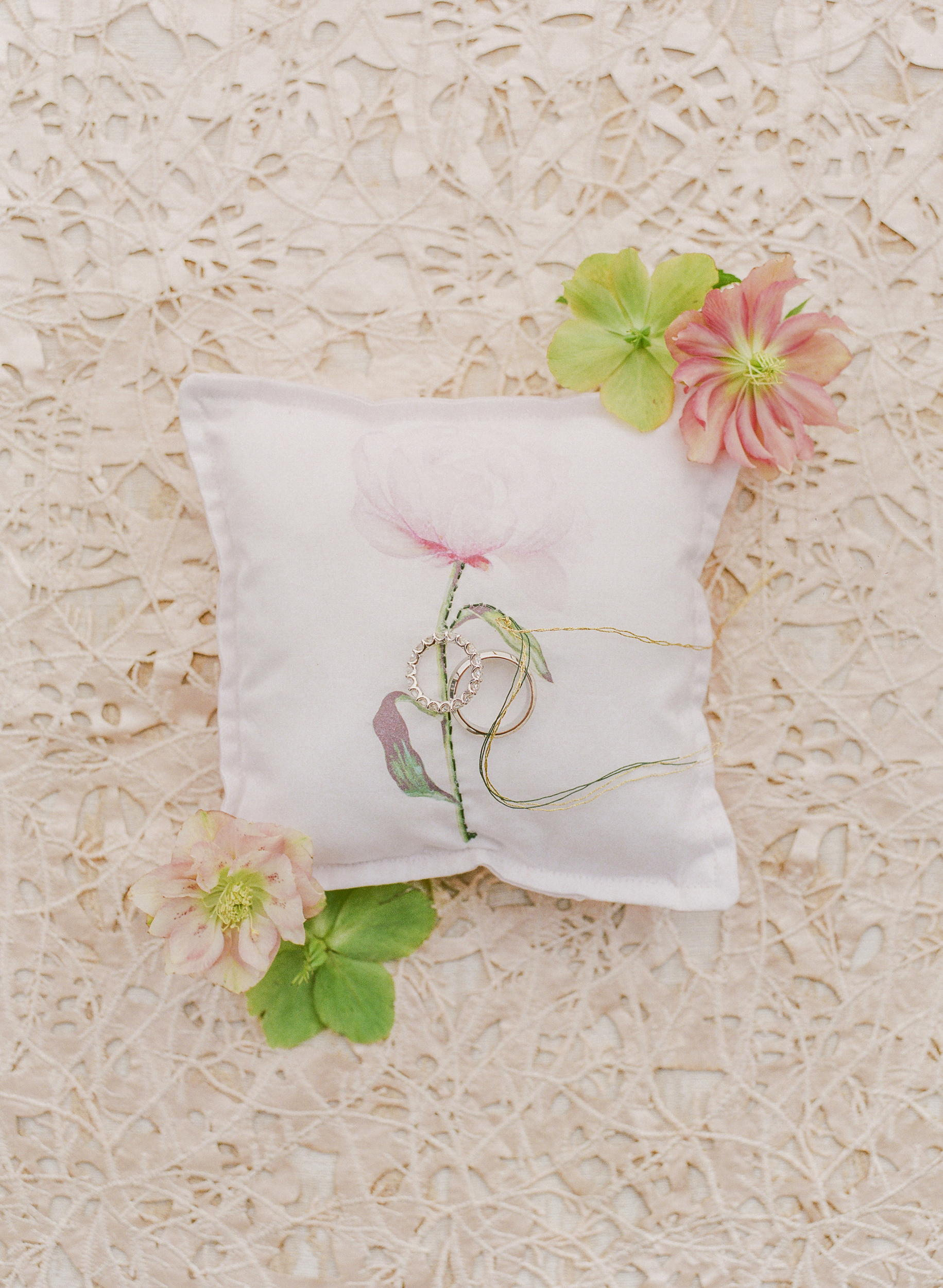 suzanne joseph wedding ring pillow corbin gurkin