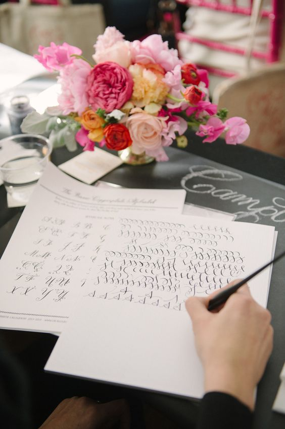 Calligraphy Class Bridal Shower