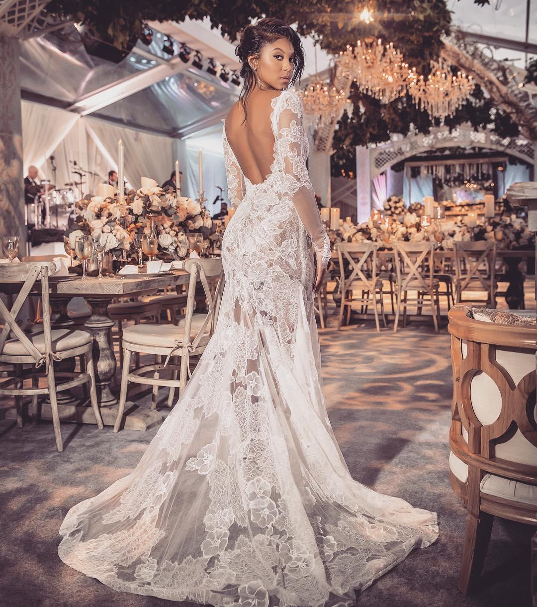 Eniko Parrish reception wedding dress