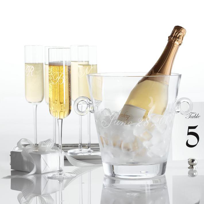 Mark and Graham champagne set
