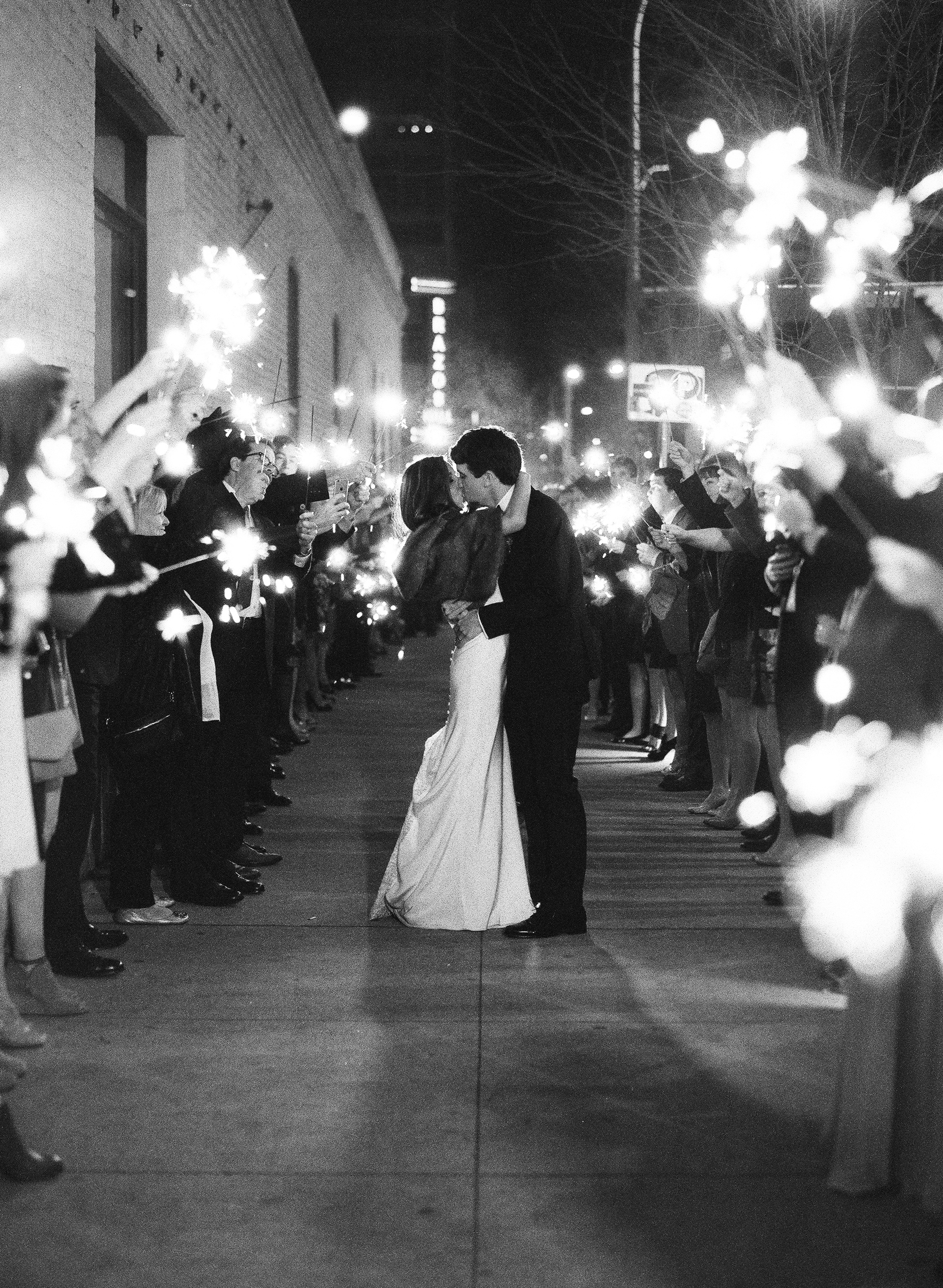 afton travers wedding sparklers