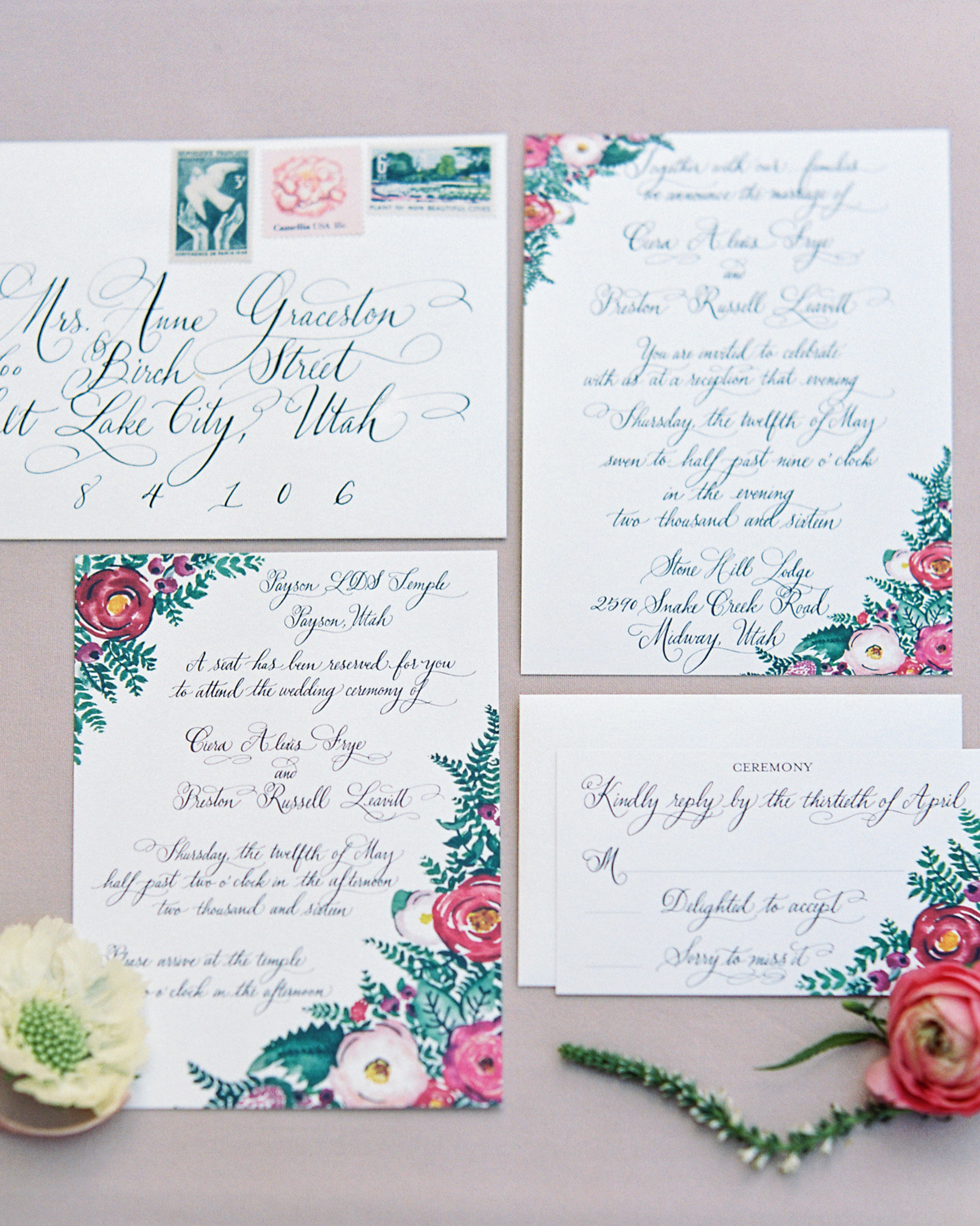 ciera preston wedding invite