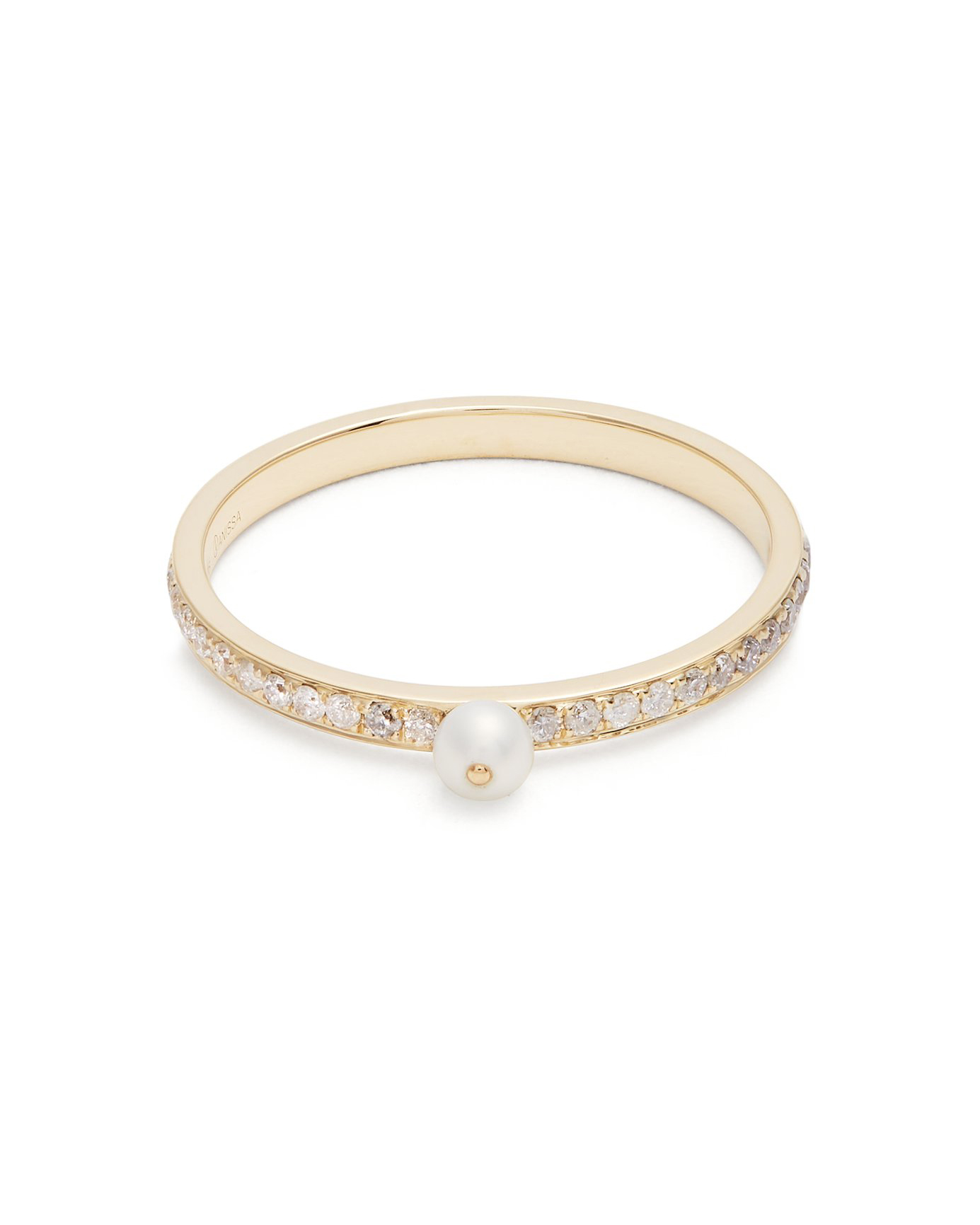 "Anissa Kermiche ""Perle Rare"" Diamond, Pearl, and Yellow Gold Ring"
