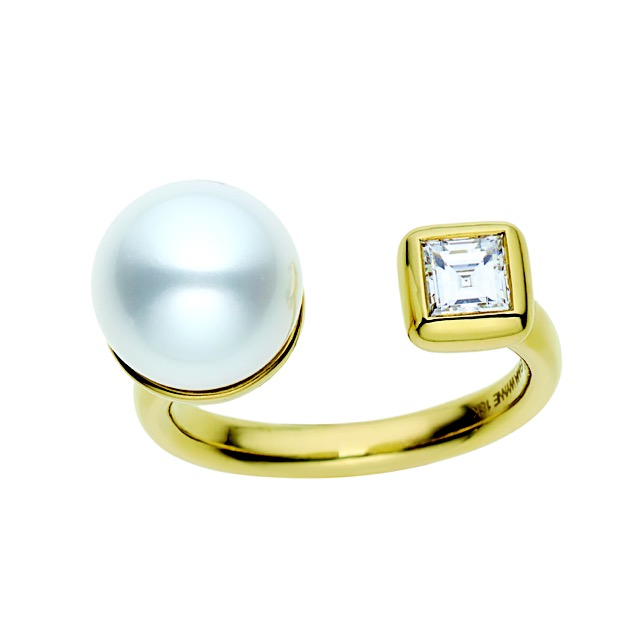 "Jemma Wynne ""Prive"" south sea pearl and diamond ring"