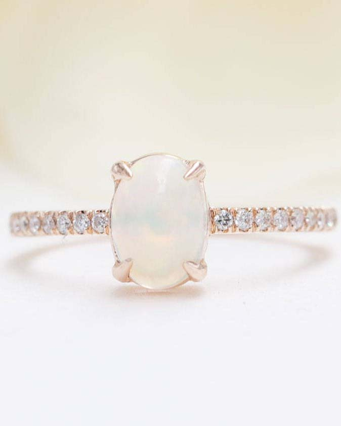 Anna Sheffield Opal Engagement Ring
