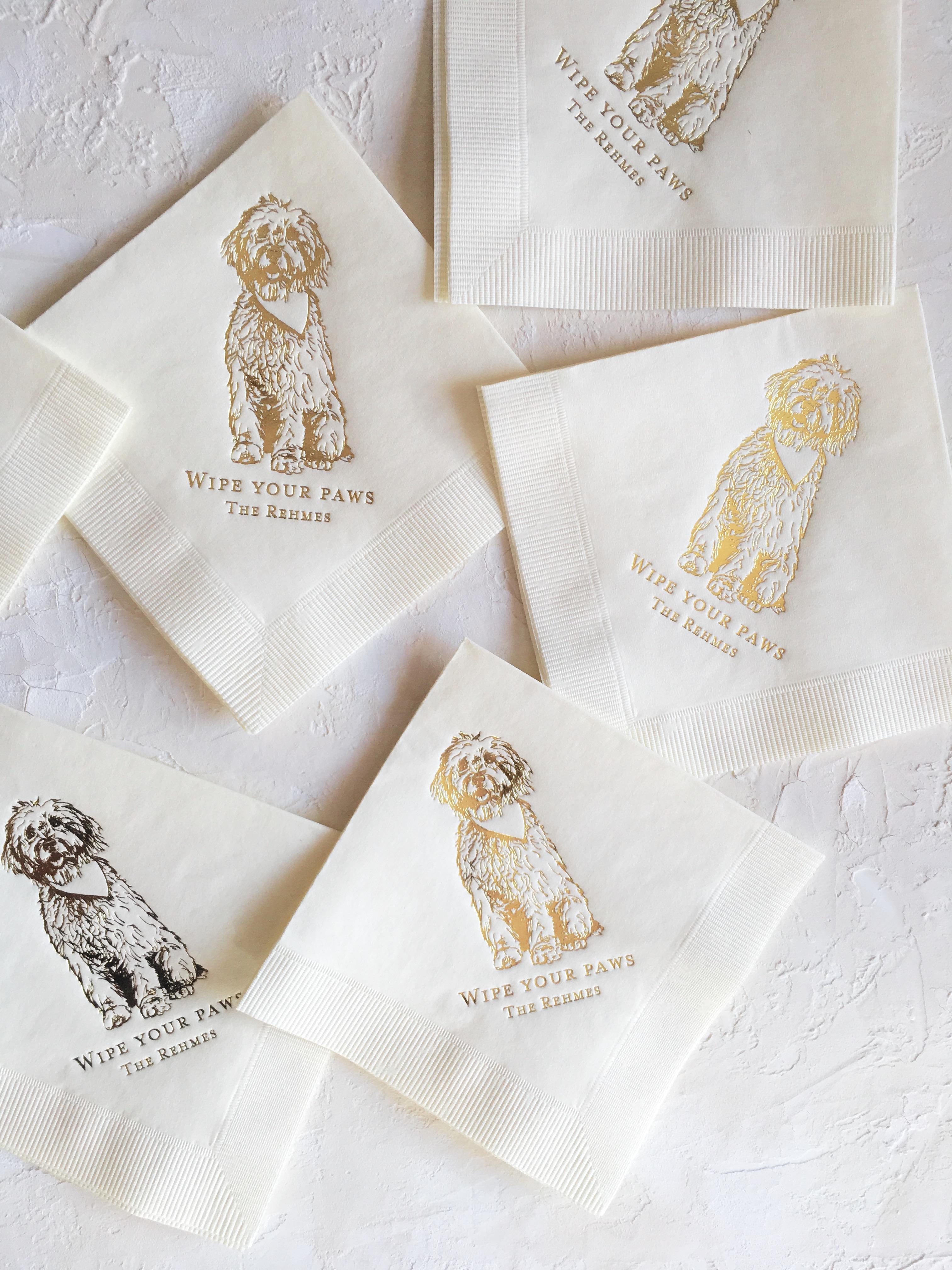 dog cocktail napkins