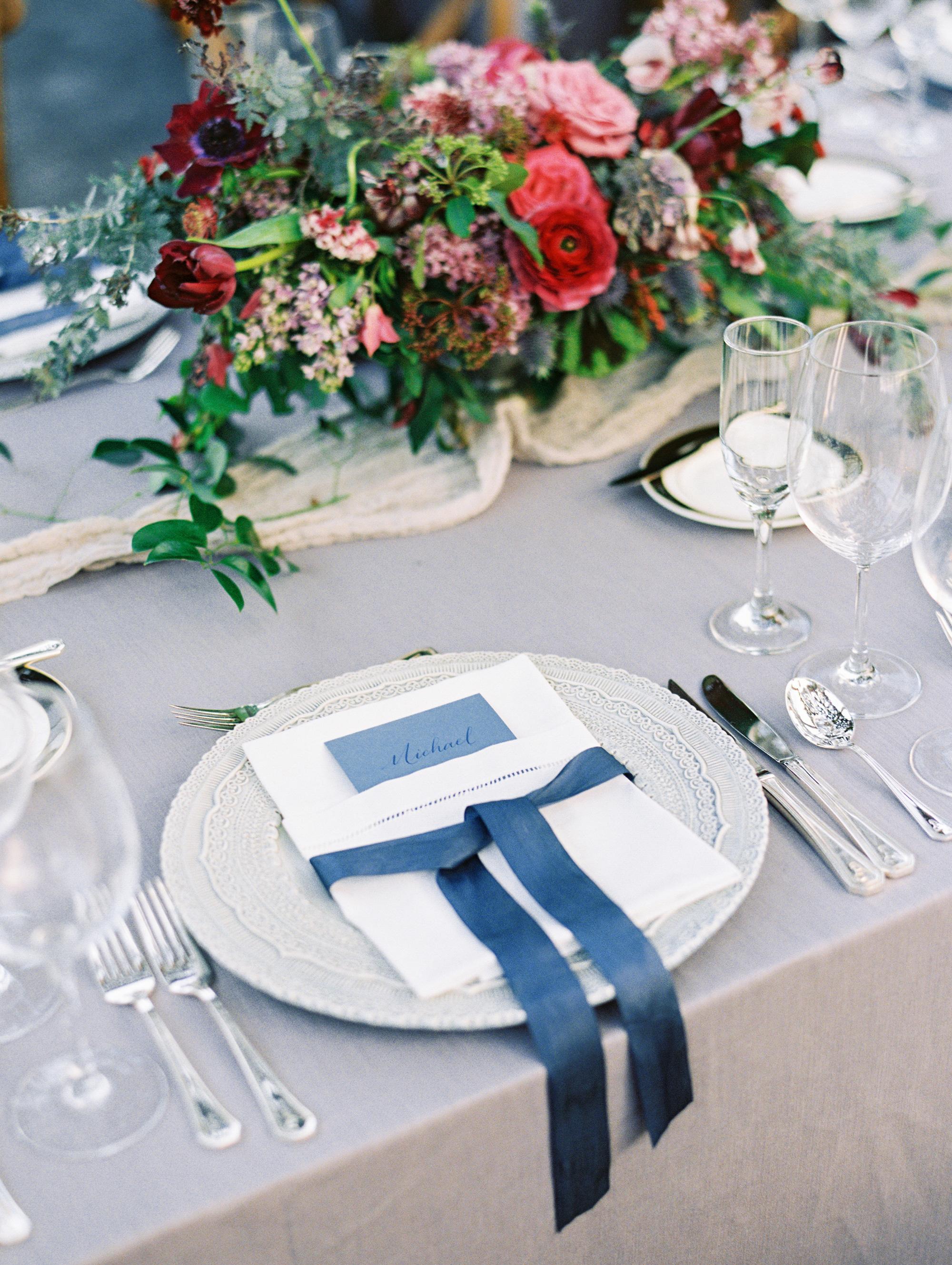 samantha michael wedding placesetting