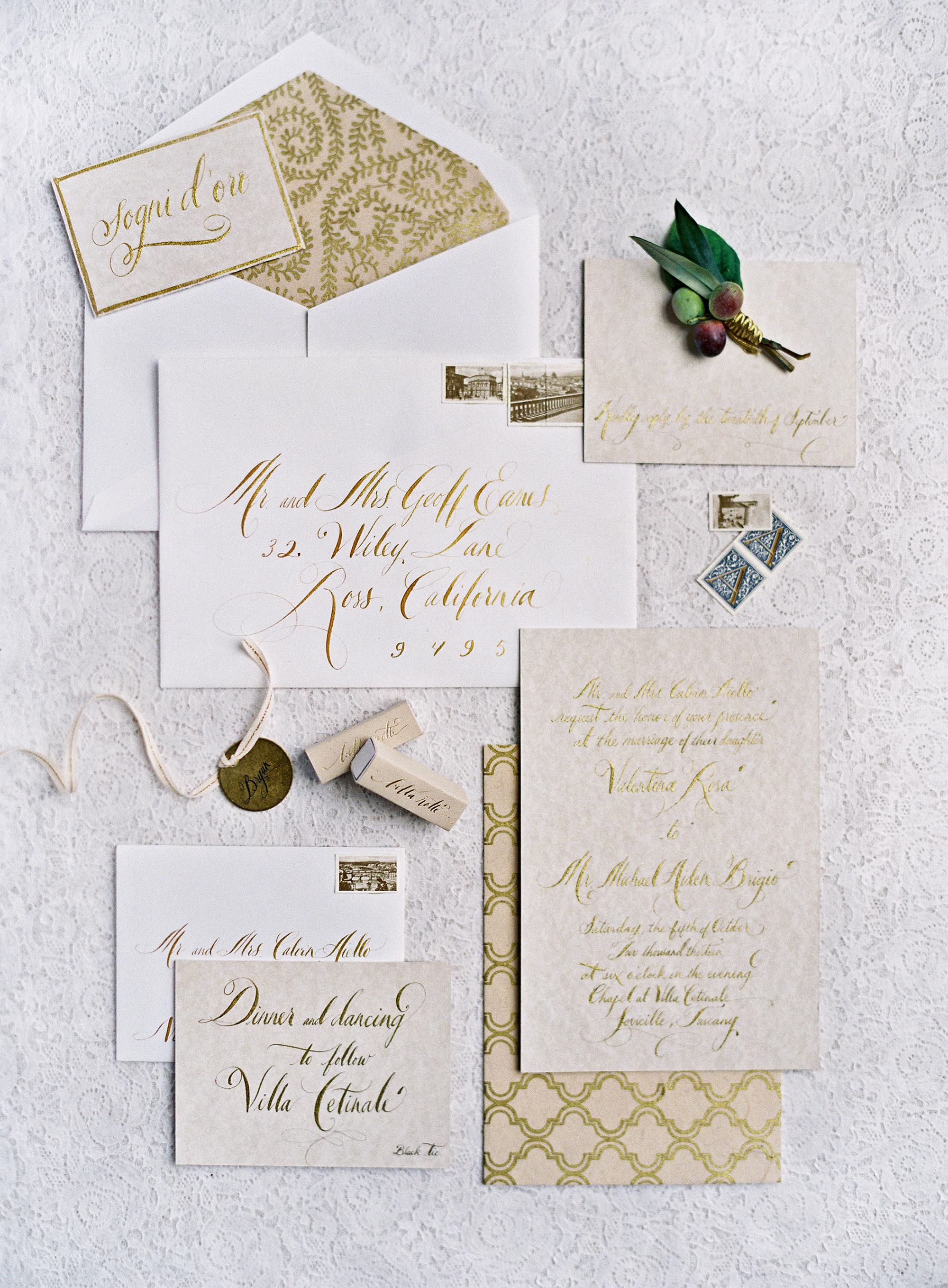 copper foil metallic invitations