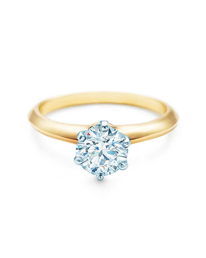 18-Karat Yellow Gold Diamond Ring