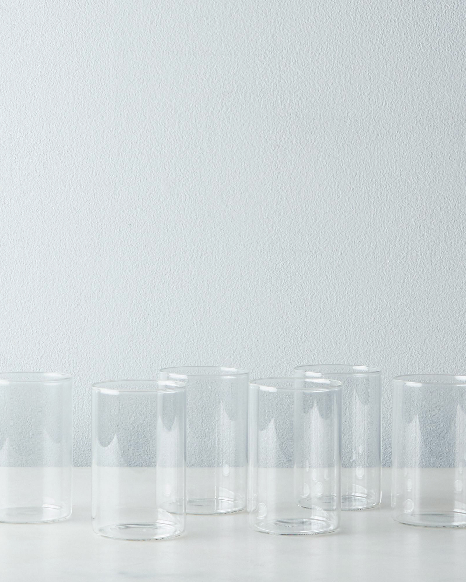 simple glass drinking tumbler set