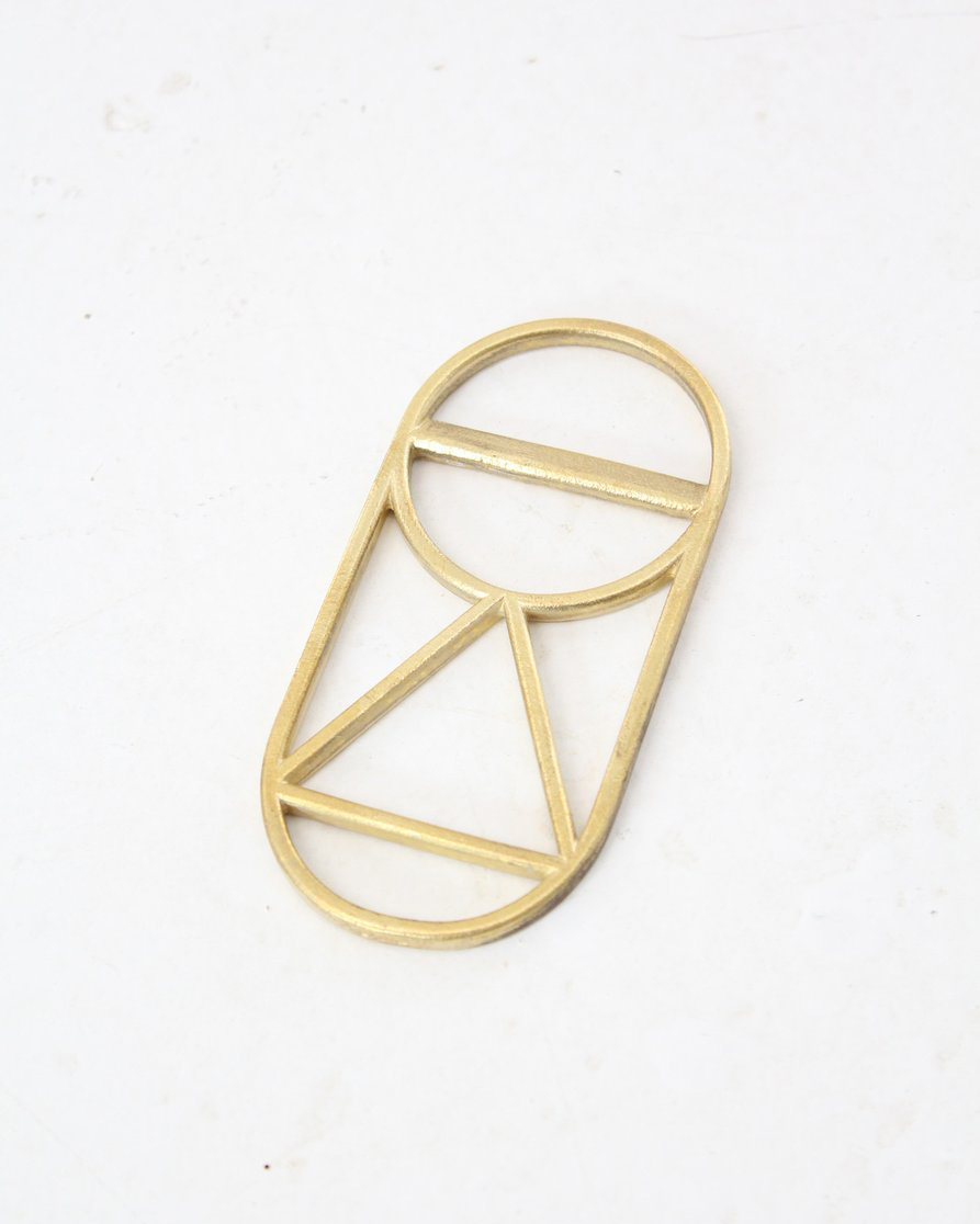 geometric brass bottle opener