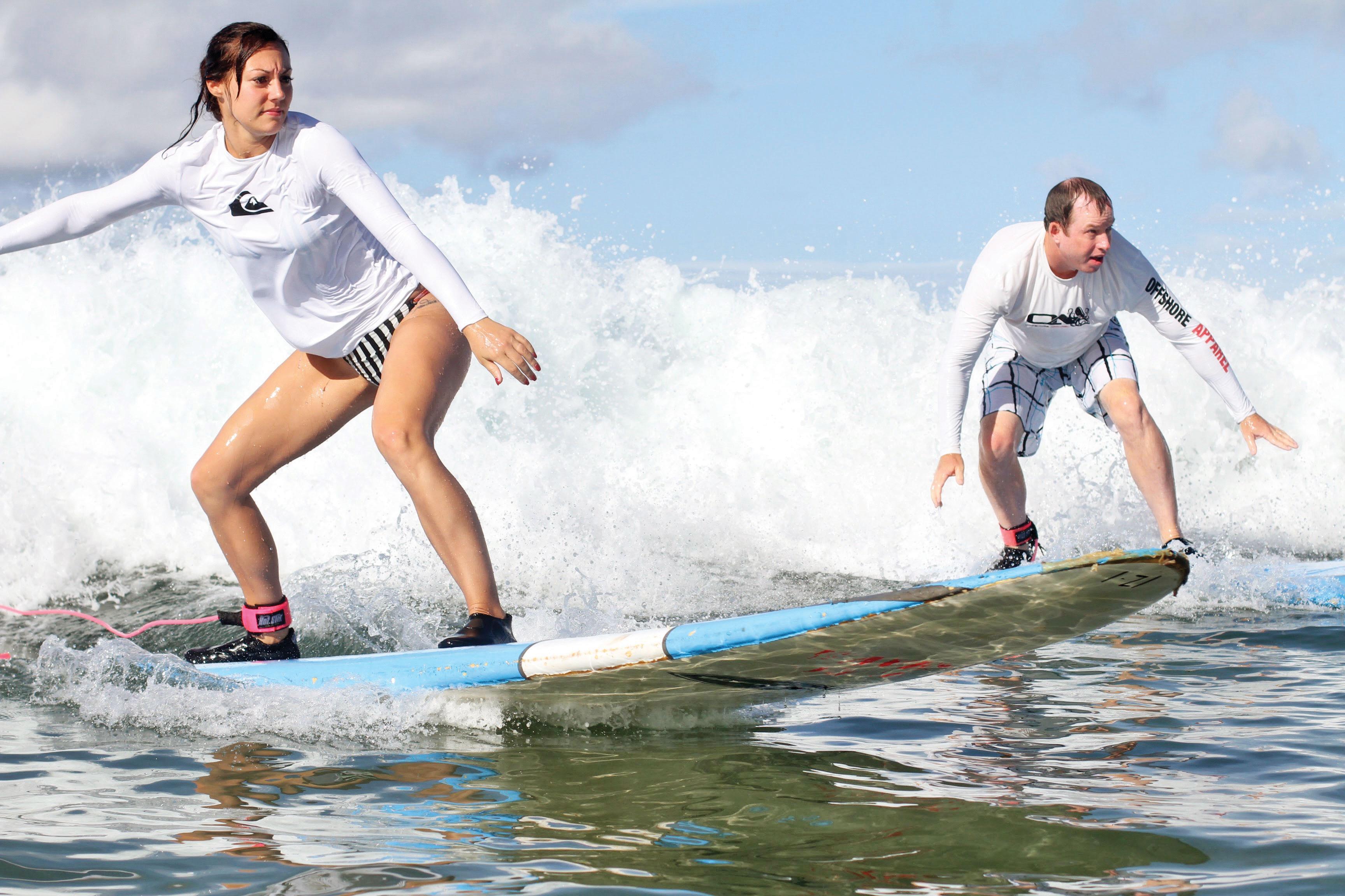 honeymoon surfing