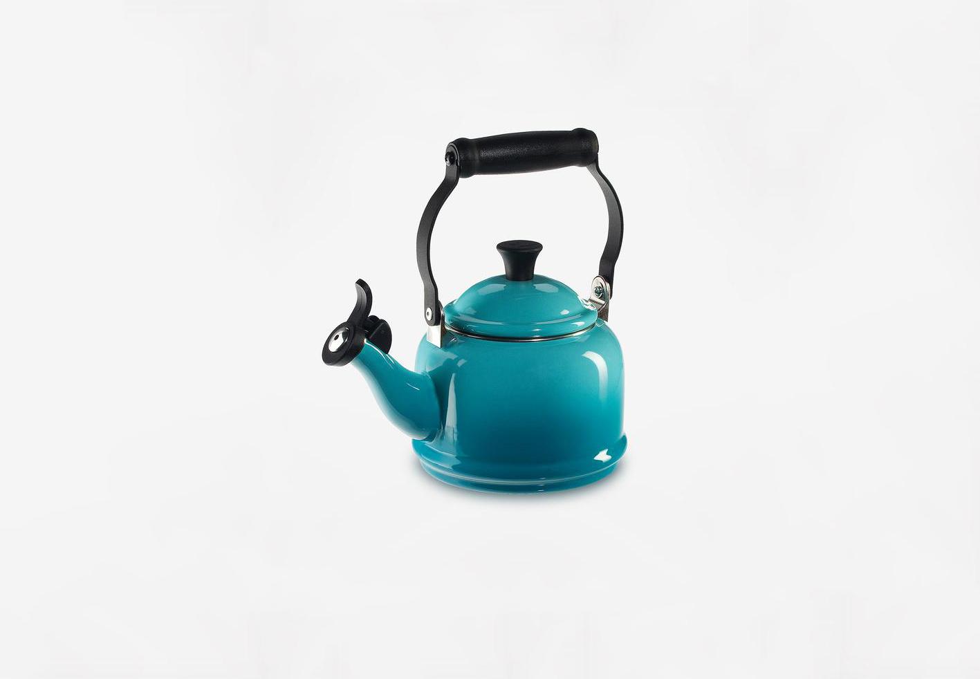 pop of color le creuset kettle zola