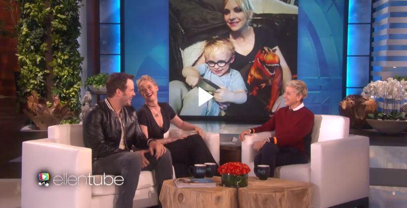 Chris Pratt and Jennifer Lawrence on Ellen