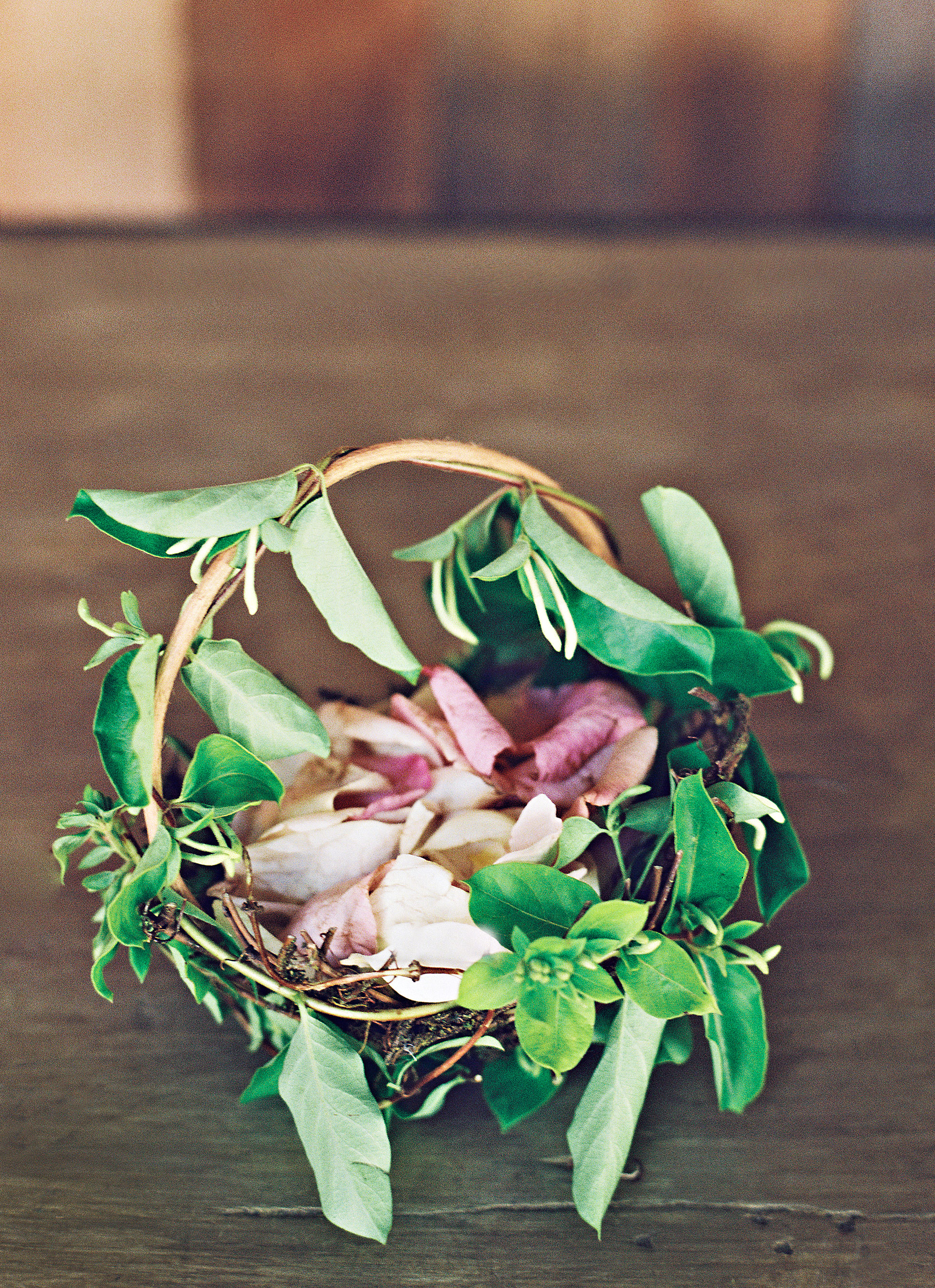 Farm Wedding tennessee flower girl basket