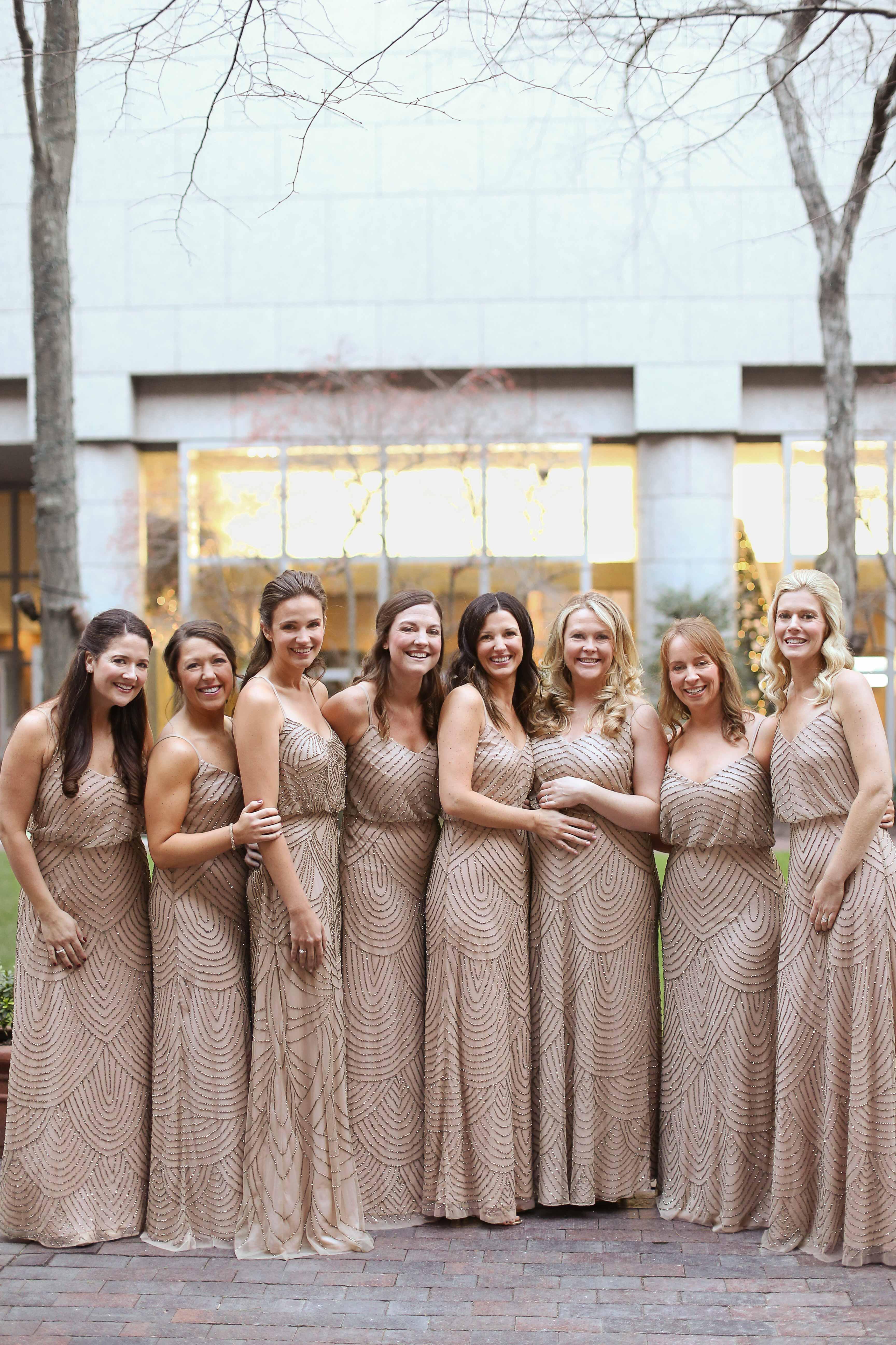 New Years Eve Wedding bridesmaids