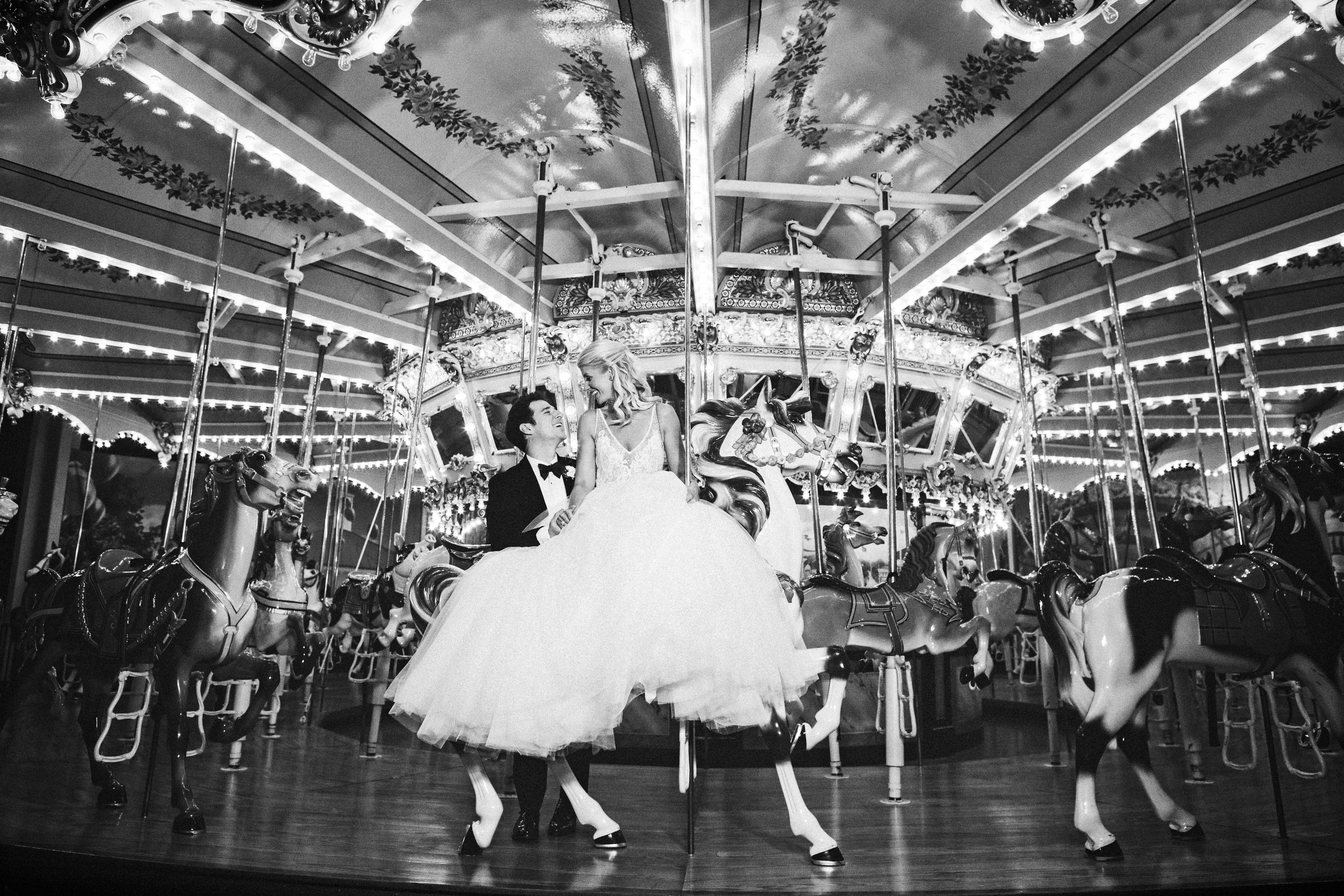 New Years Eve wedding carousel