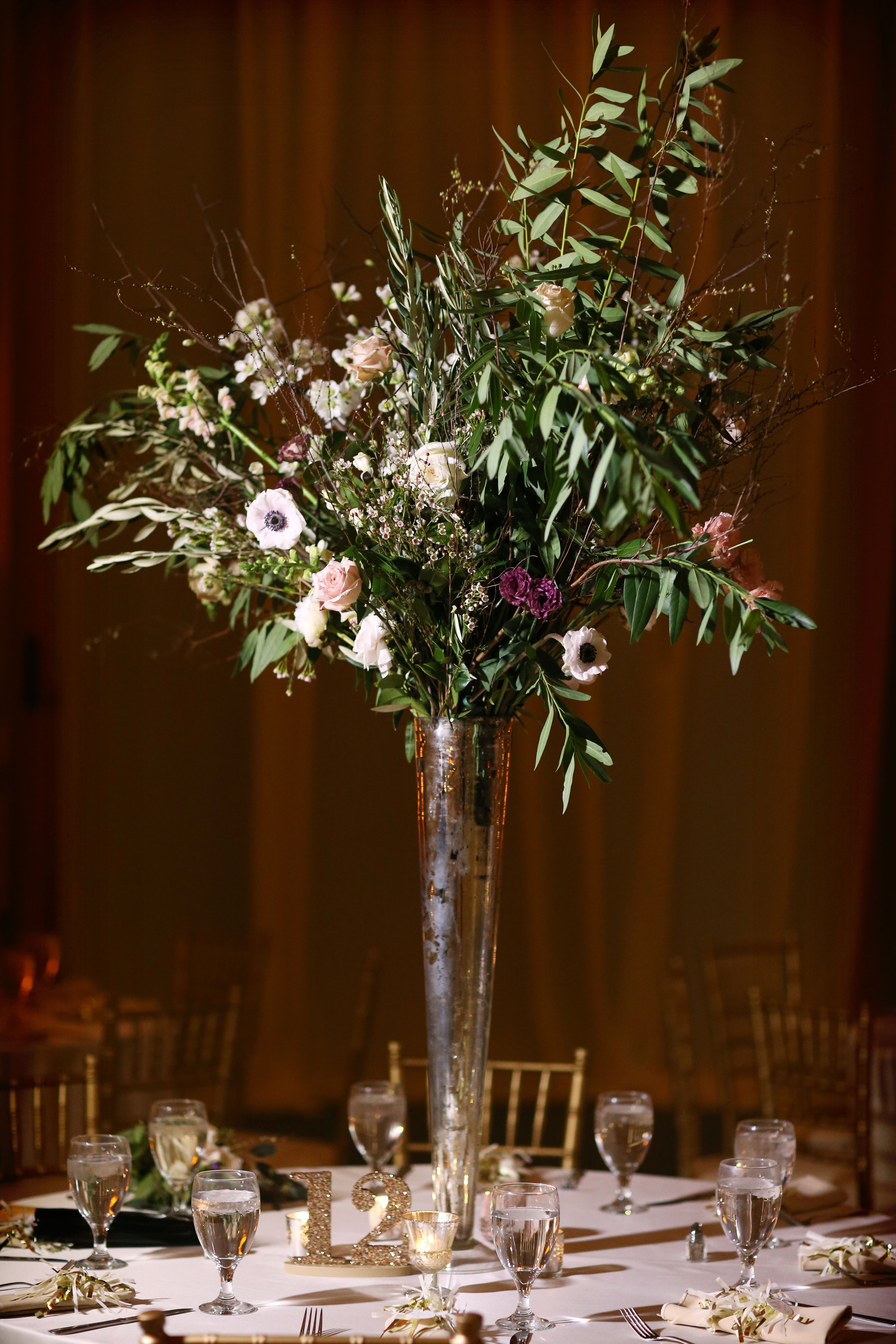 carrie mike wedding philly centerpiece