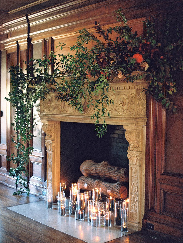 yolanda cedric wedding fireplace