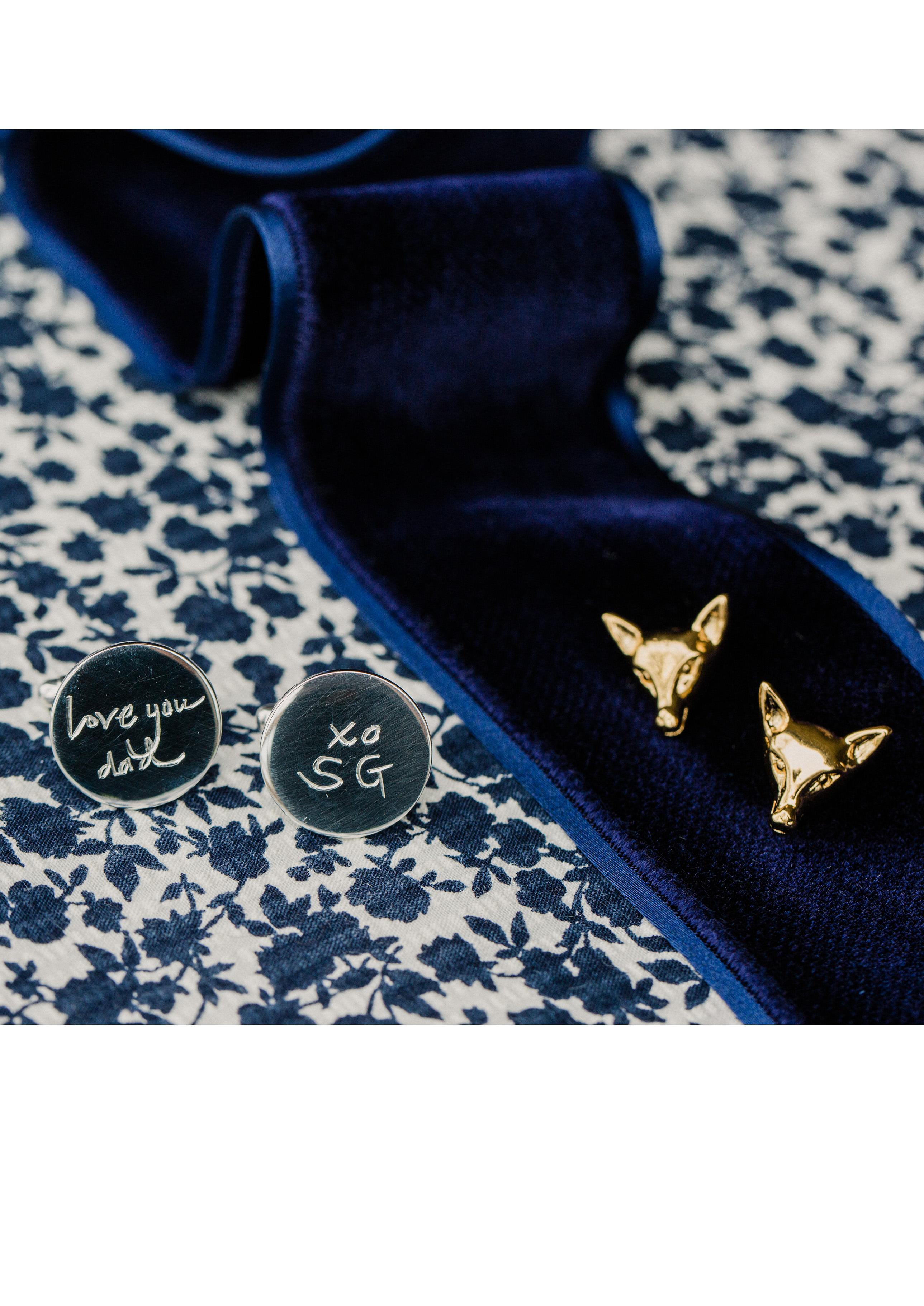 sarah greg new jersey wedding cufflinks