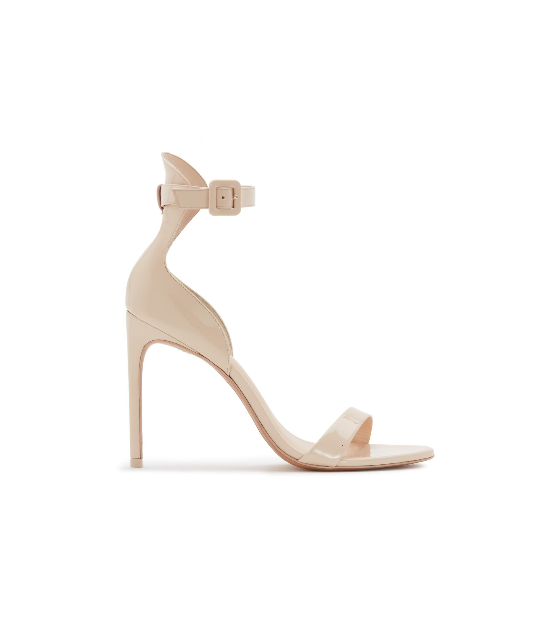 nude shoe patent leather strap heel sandals
