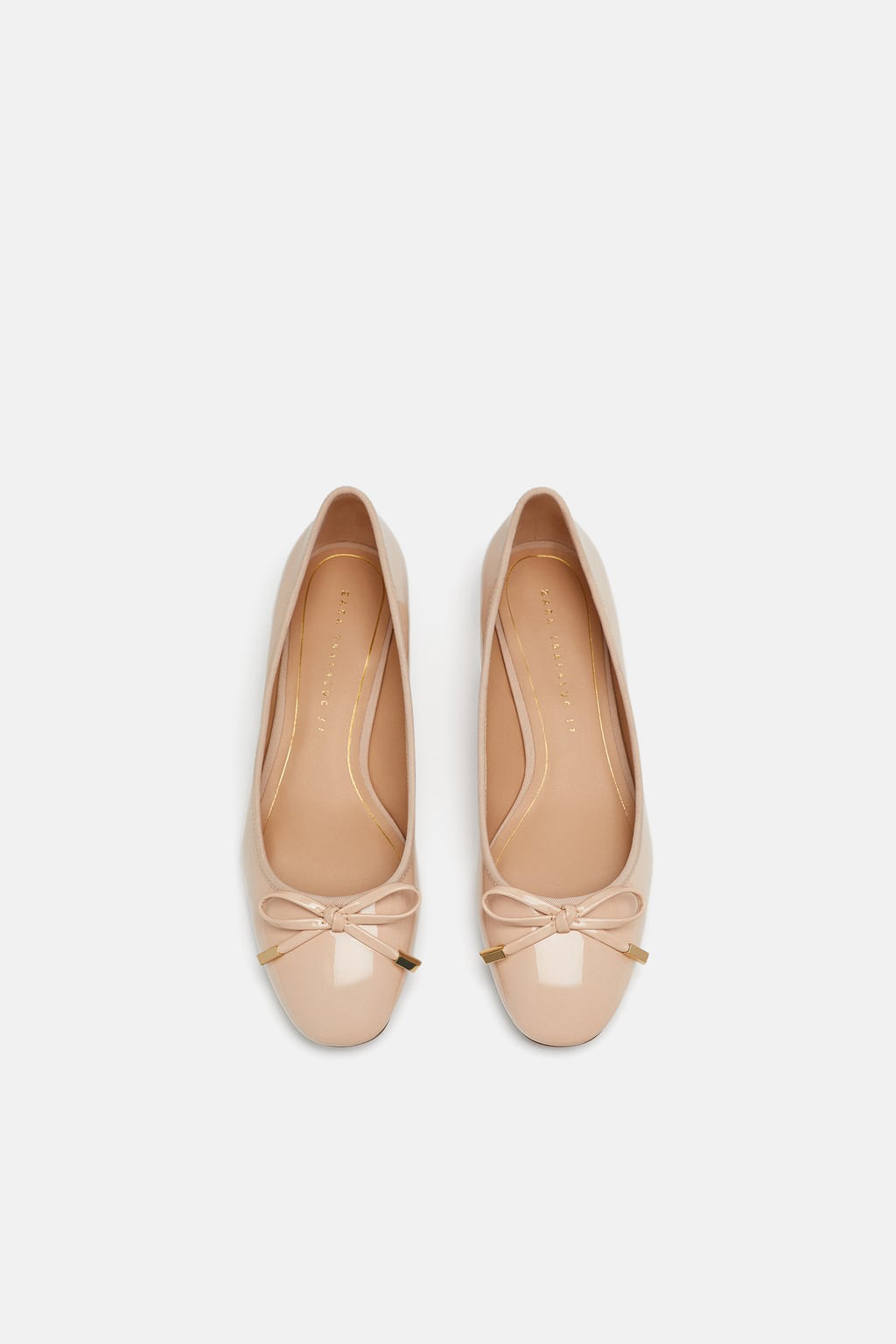 nude shoes heeled ballerinas with bow