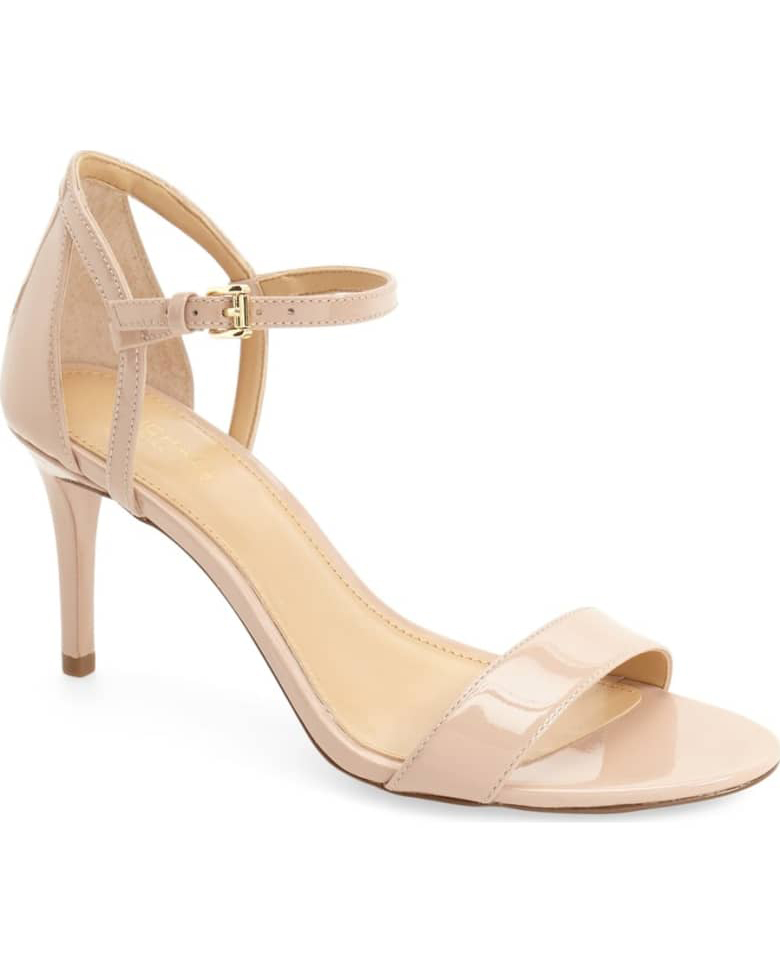 nude shoe high heel tan strap sandals
