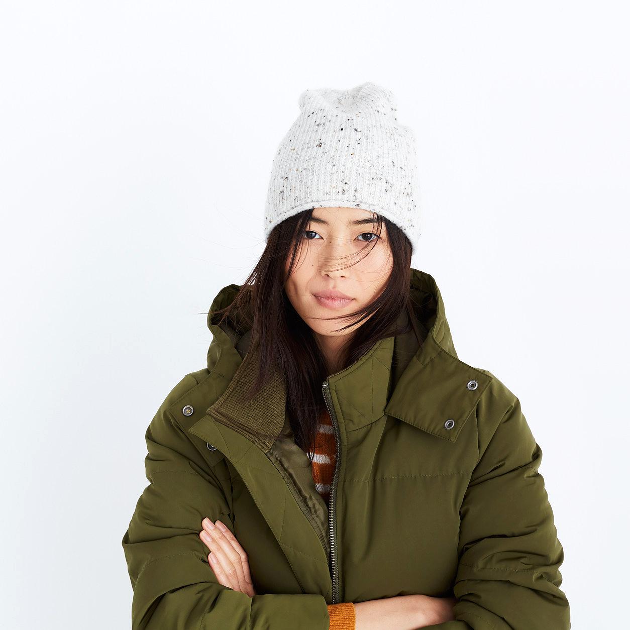 beanie green coat