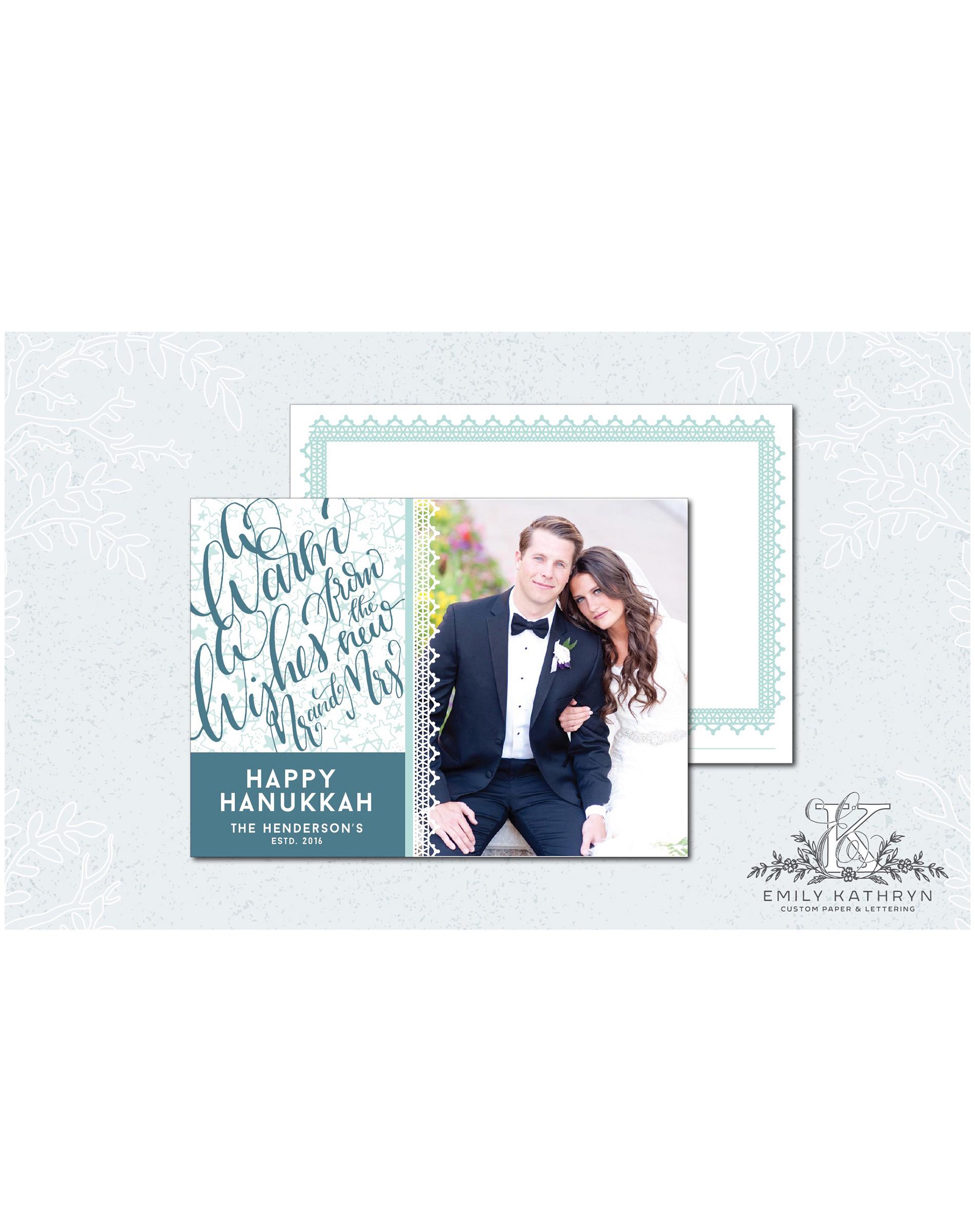 newlywed holiday card warm wishes mr mrs