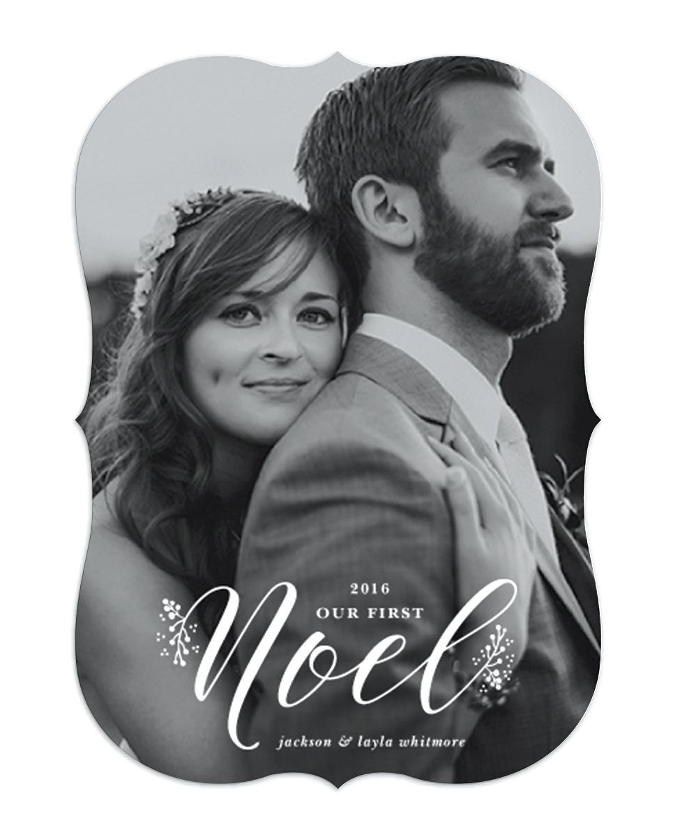newlywed holiday card first noel