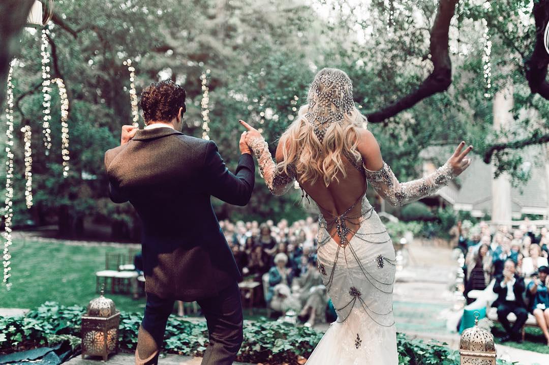 bc jean back of wedding dress