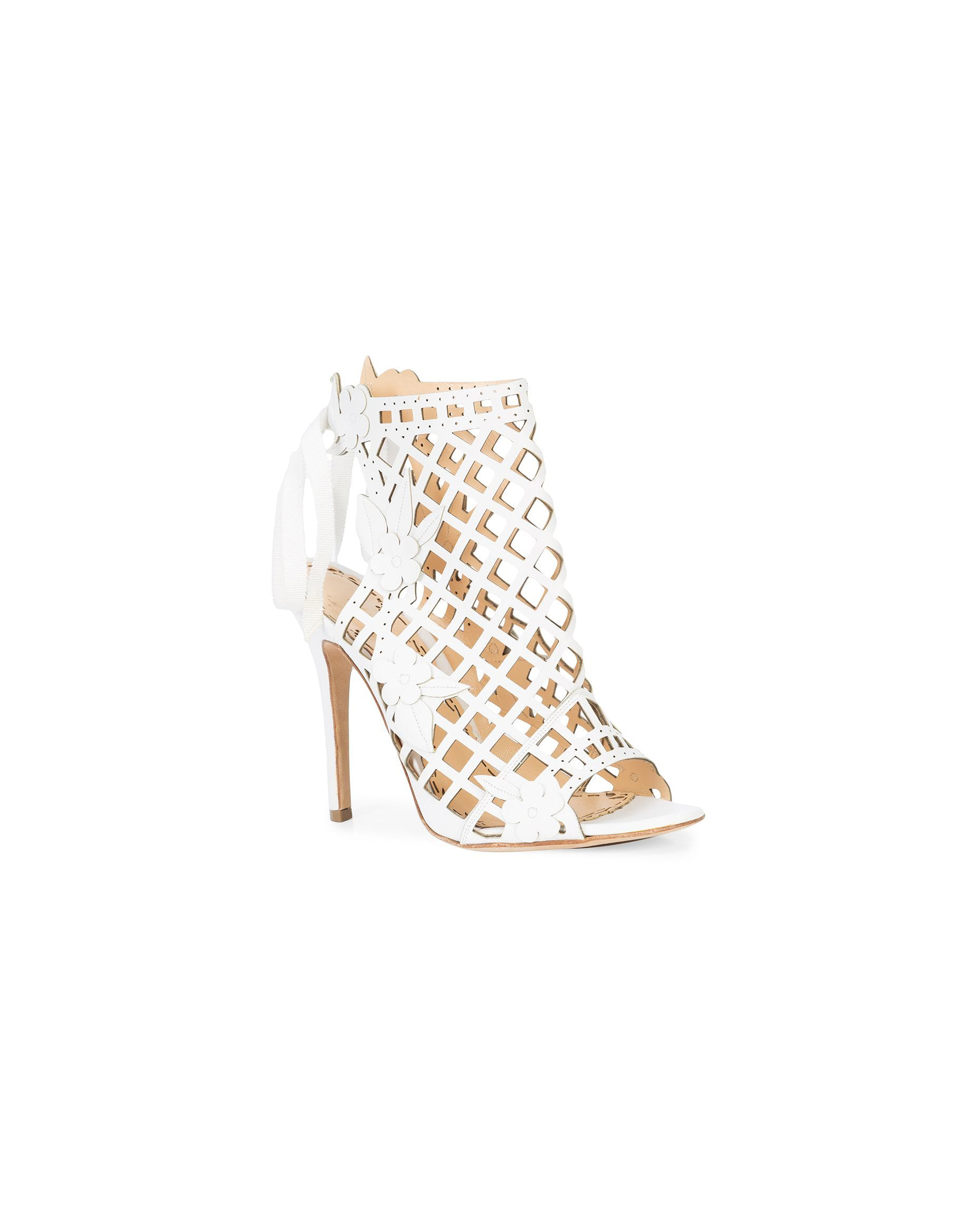 white bridal booties marchesa edith cage sandal heel