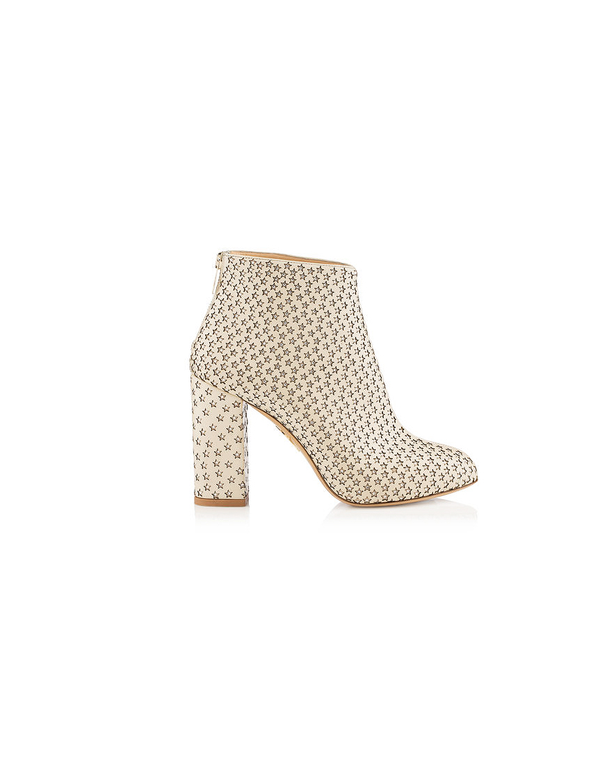 bridal booties charlotte olympia alba star chunky heels