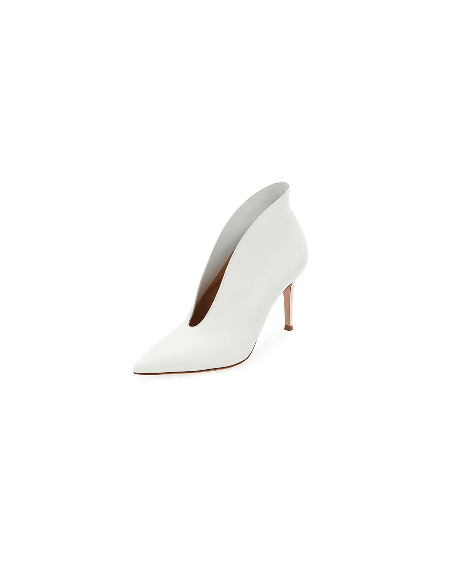 white bridal booties gianvito rossi napa heel