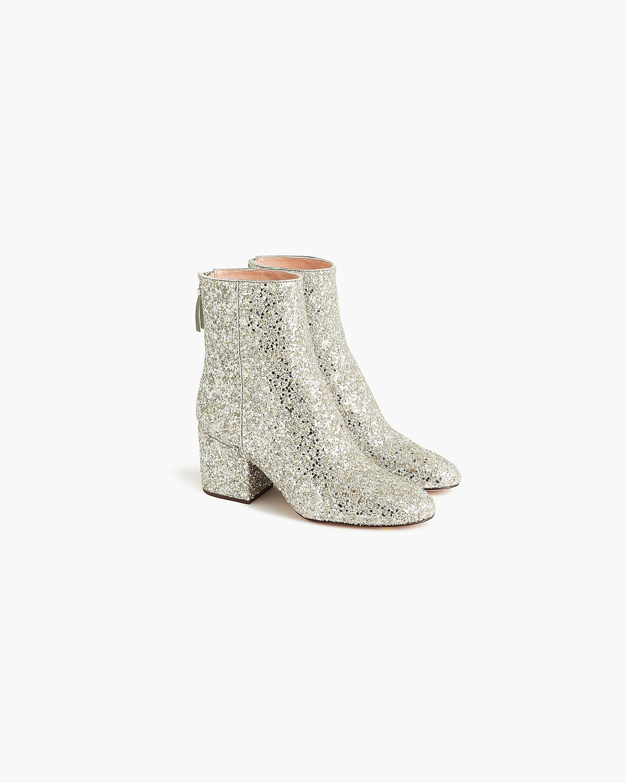sparkly golden bridal booties j crew sadie ankle boot