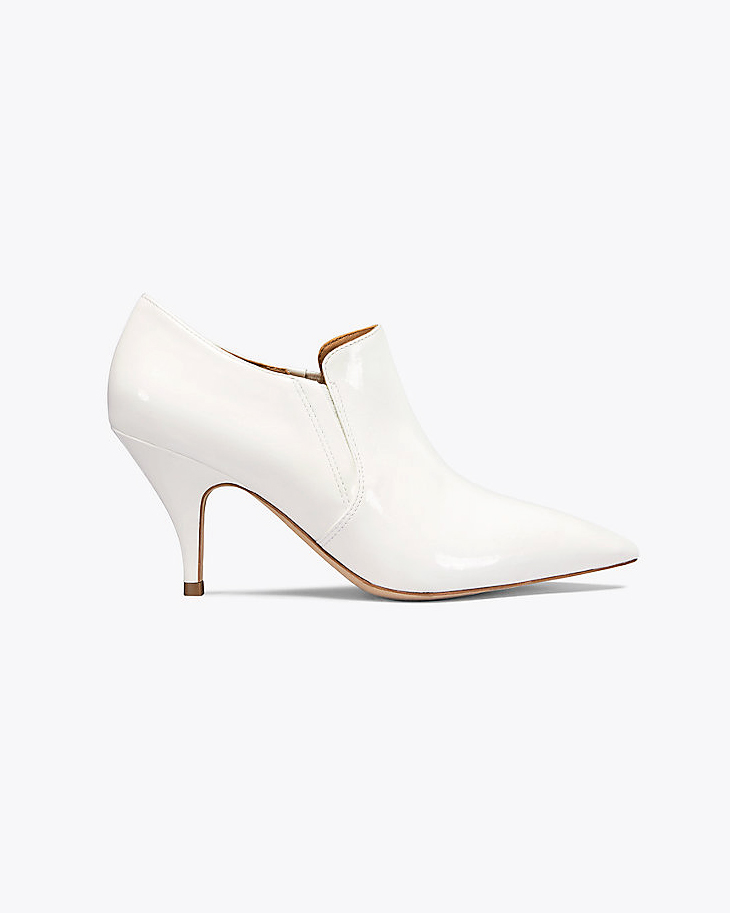 white bridal booties tory burch georgina patent